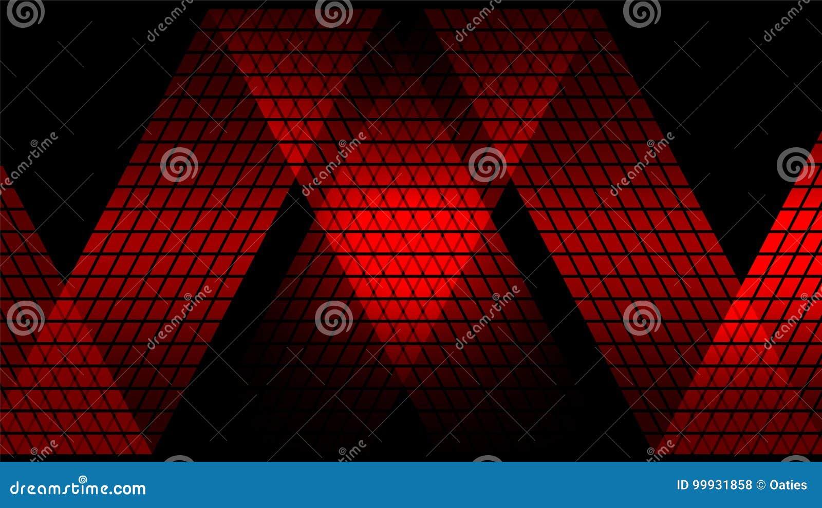 红色数字式抽象技术背景