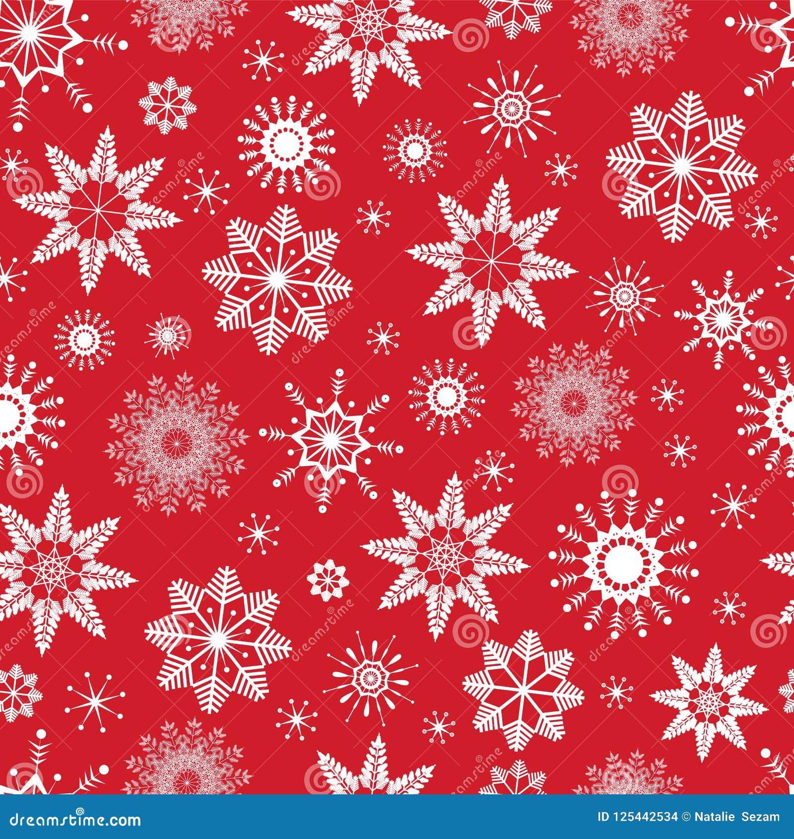 红色无缝的雪花样式 向量背景 好选择寒假设计,圣诞节和新年背景, ba