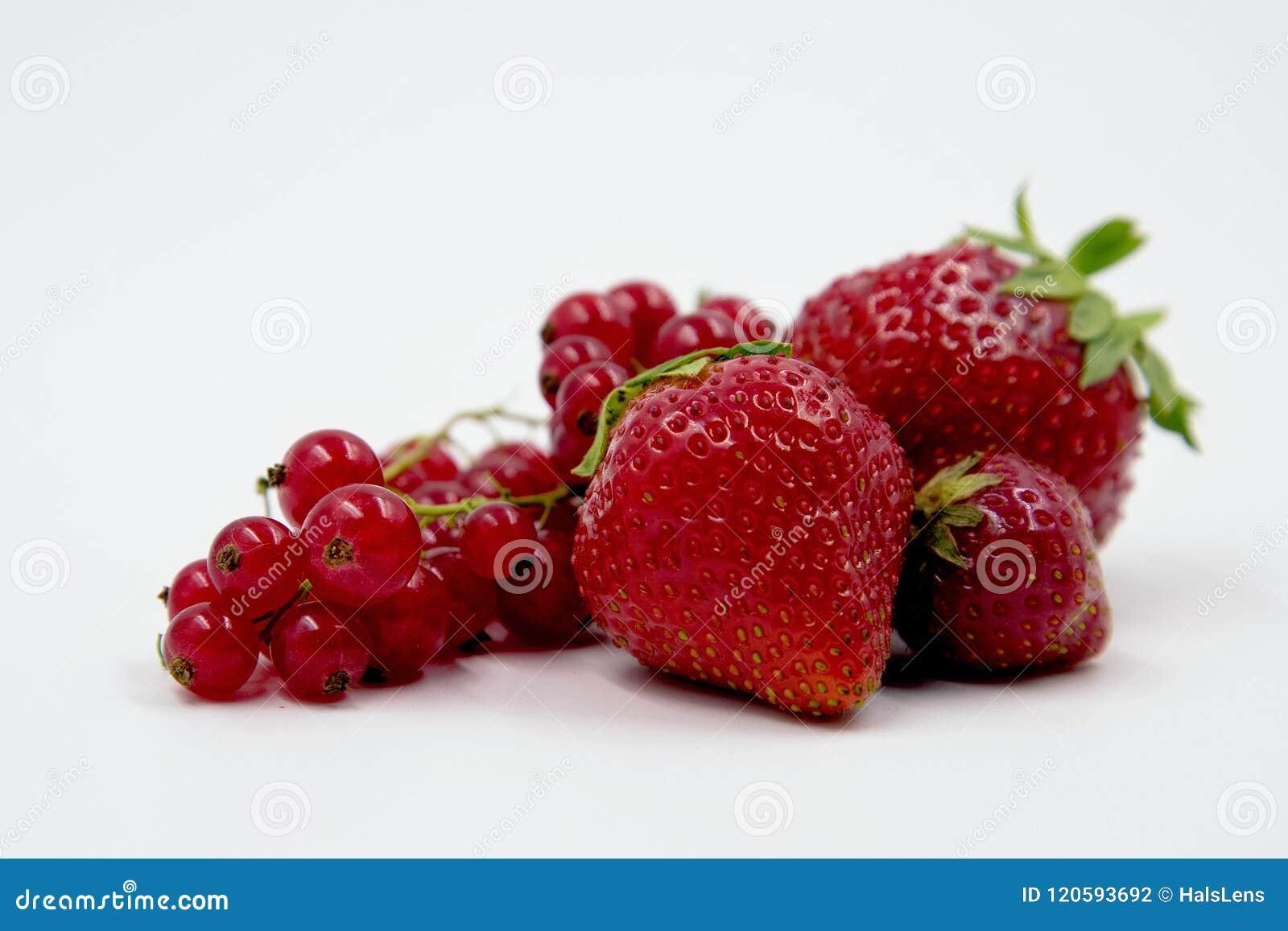 红色果子静物画