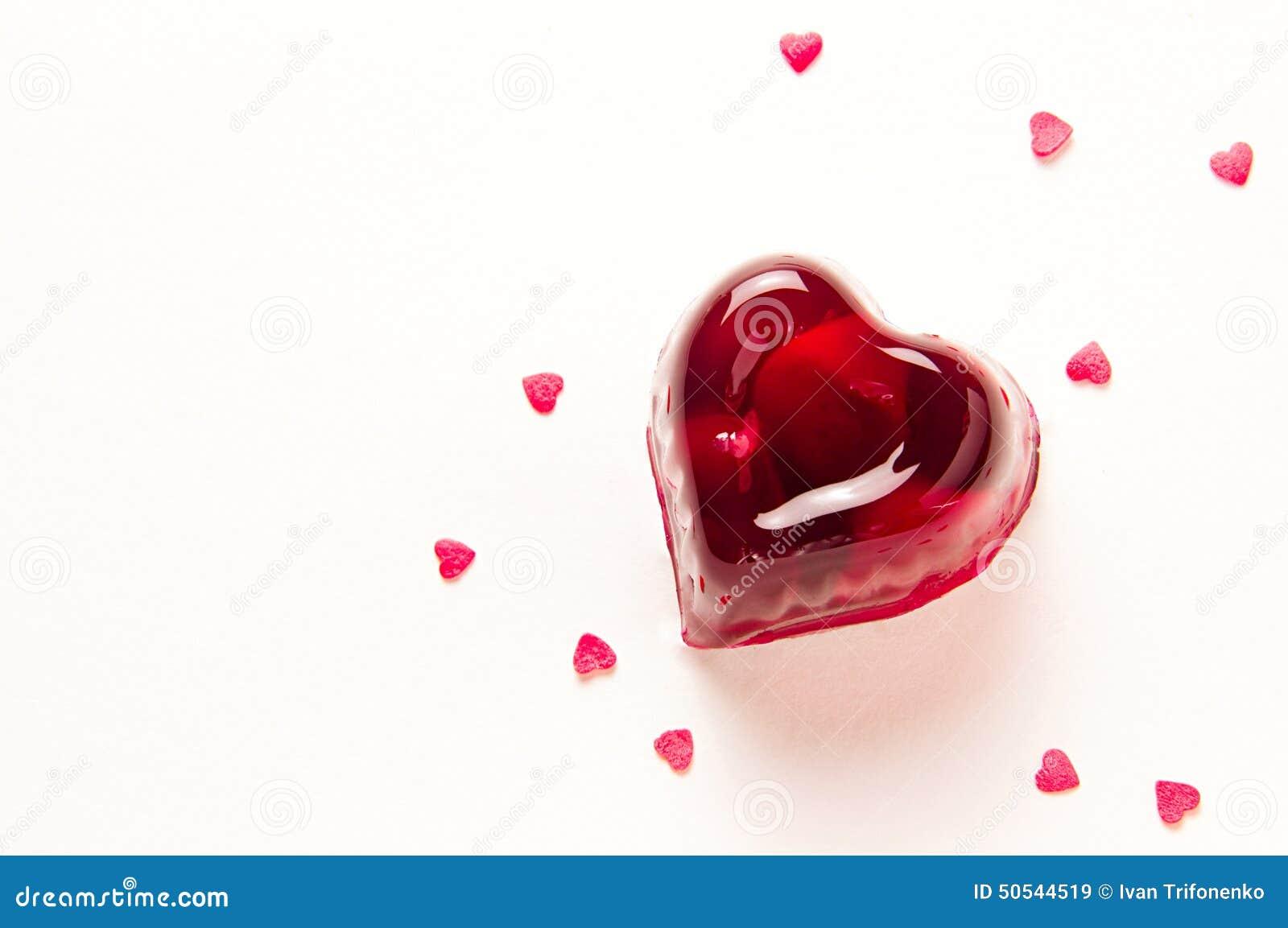 红色欧洲甜樱桃果冻