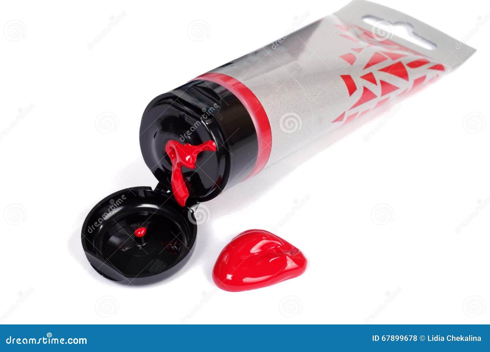 红色油漆银色管