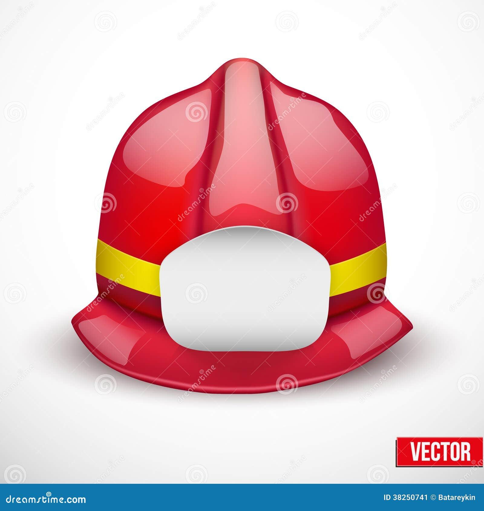 红色消防员盔甲传染媒介例证