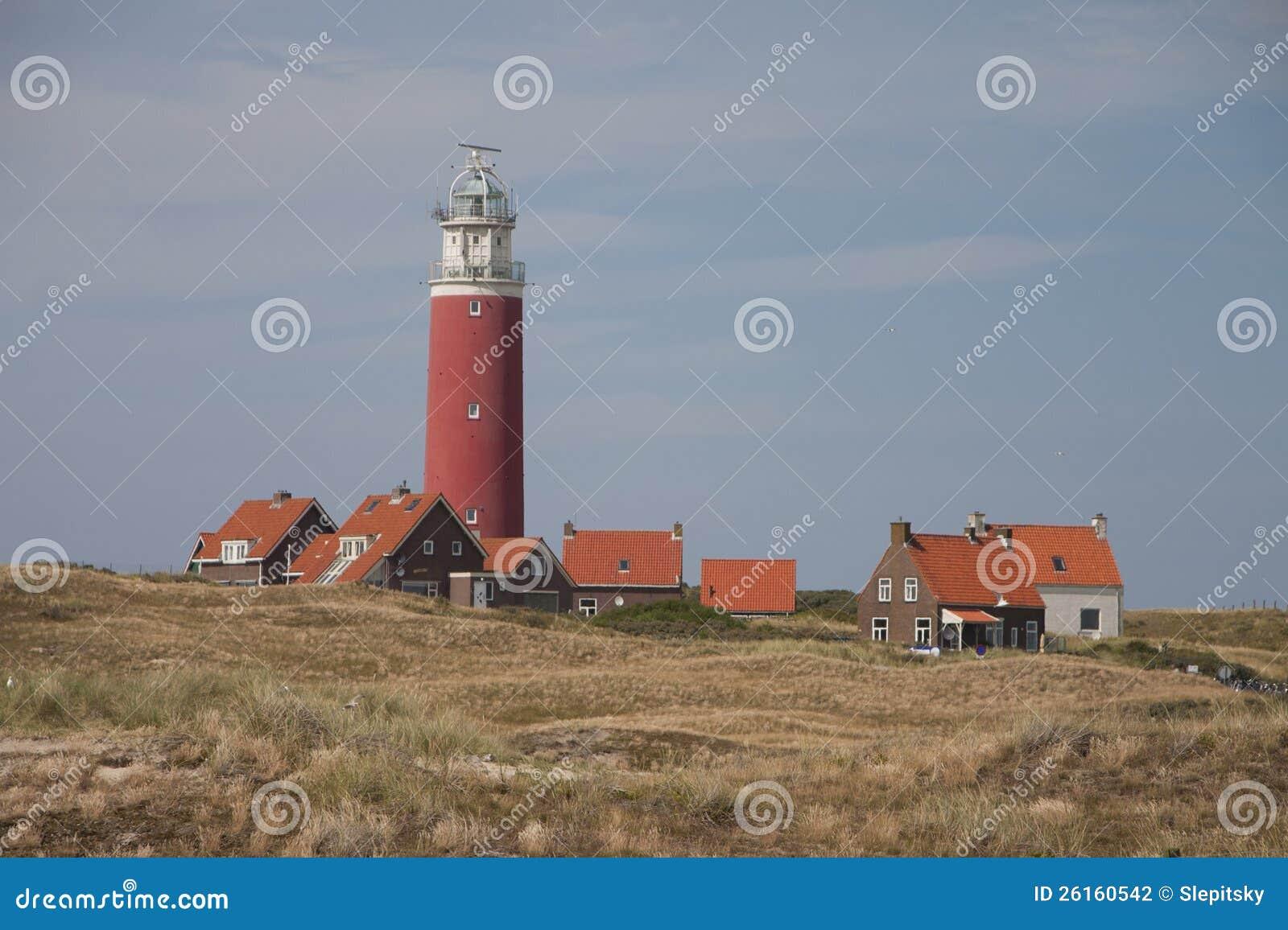 红色灯塔, Texel的小的房子