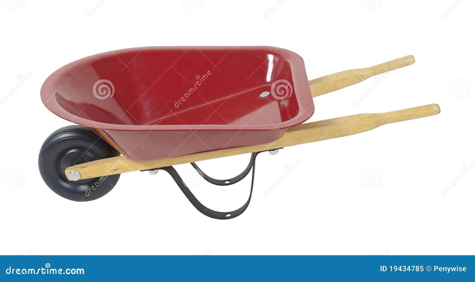 红色独轮车