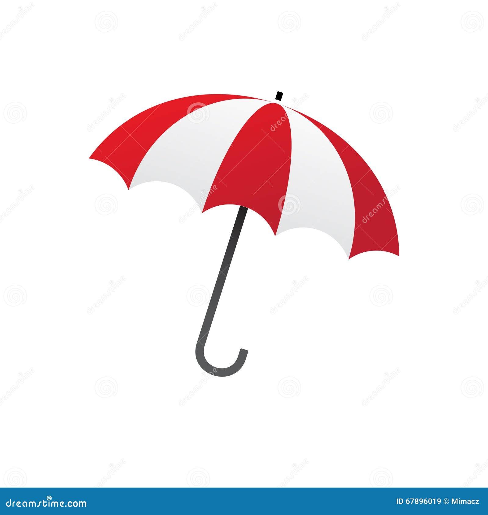 红色白色伞