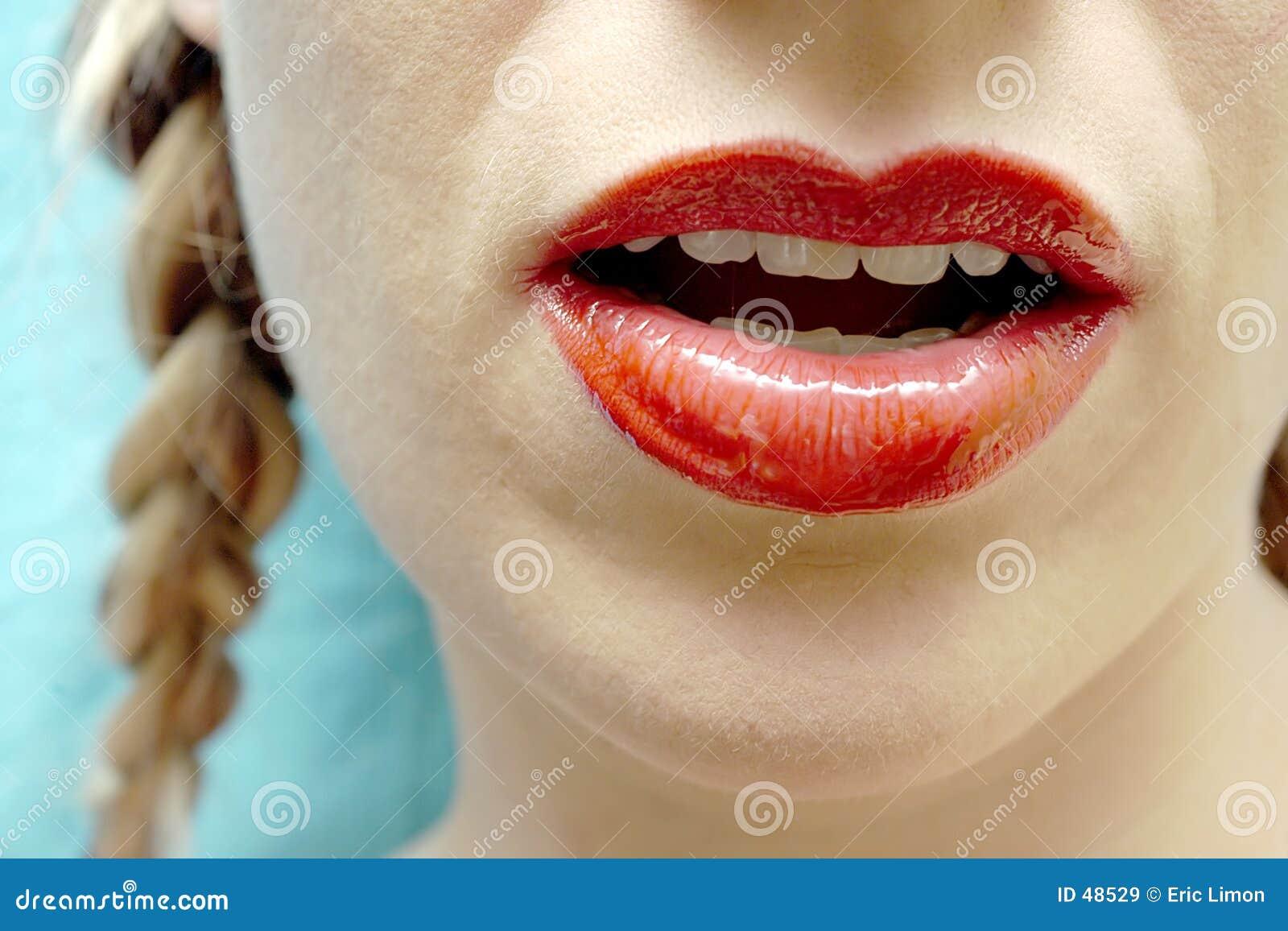 红色的嘴唇
