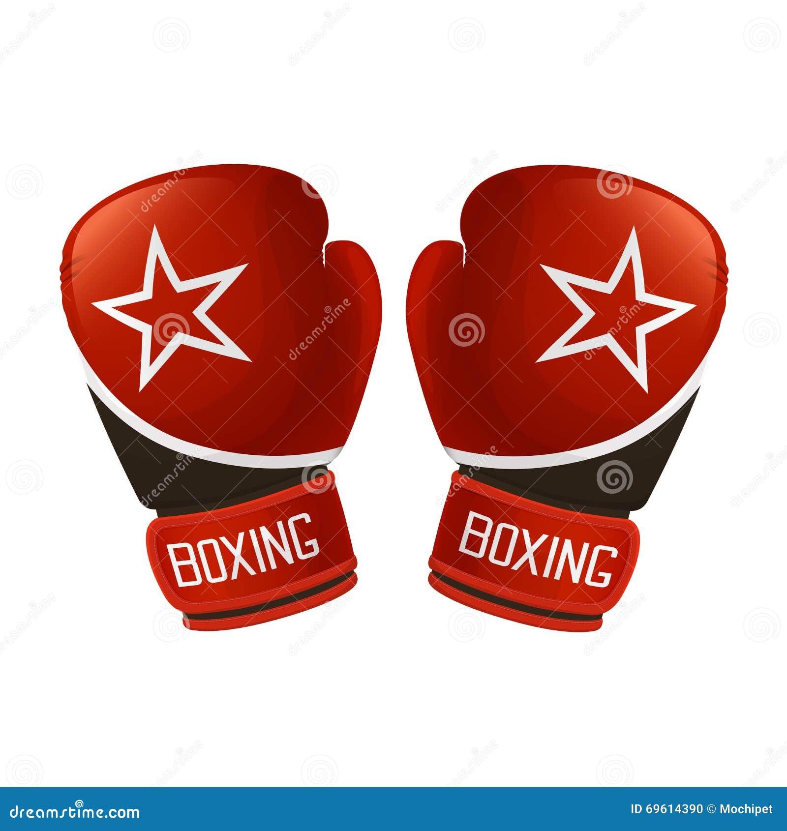 红色的拳击手套