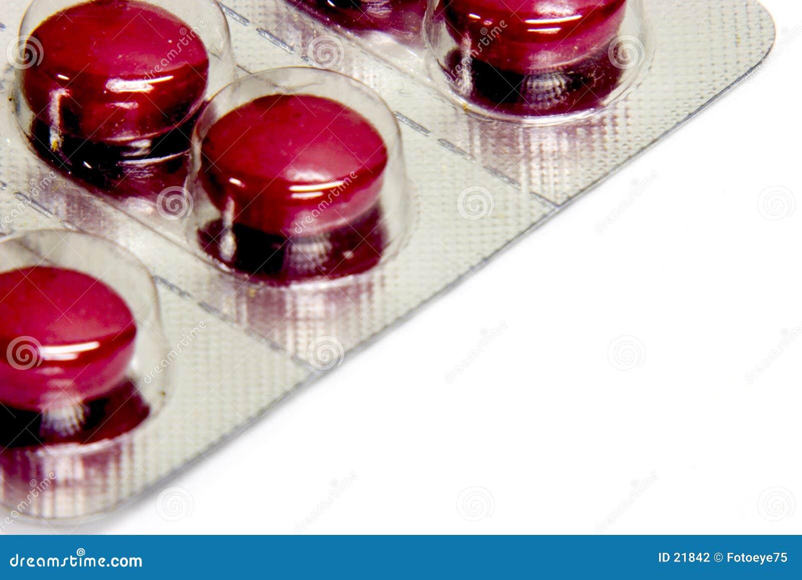 红色的药片