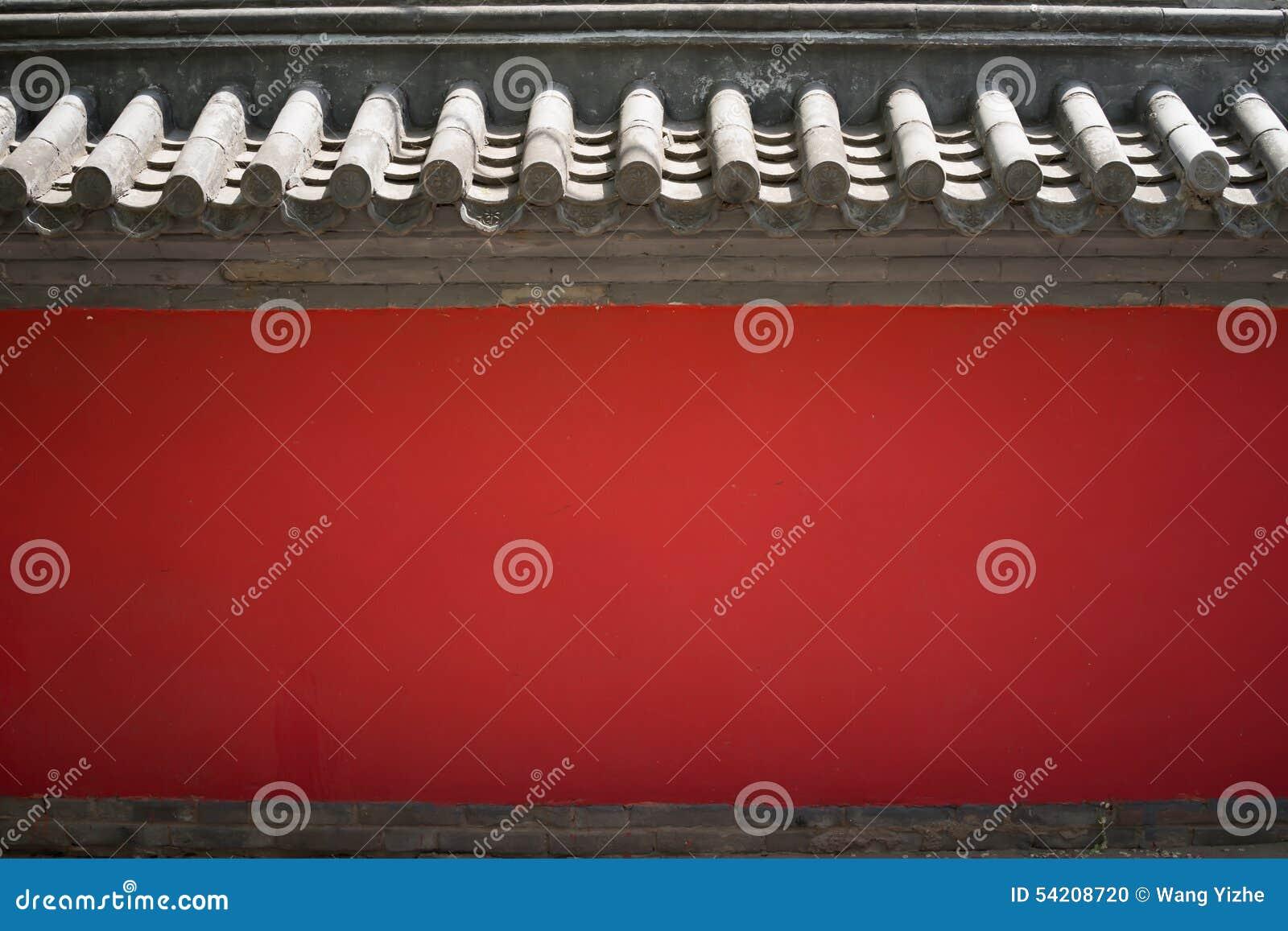 红色纹理墙壁