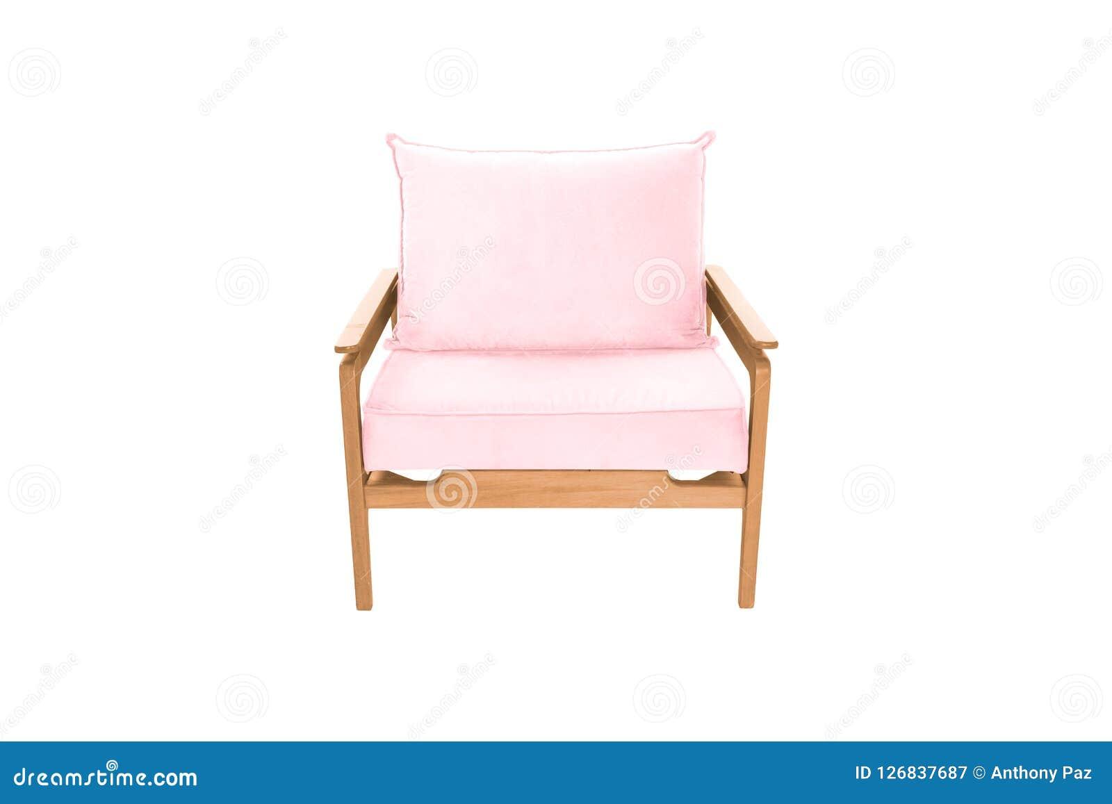 红色织品和木头扶手椅子现代设计师