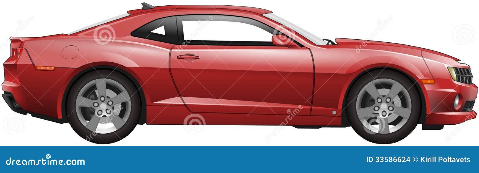 红色美国肌肉汽车