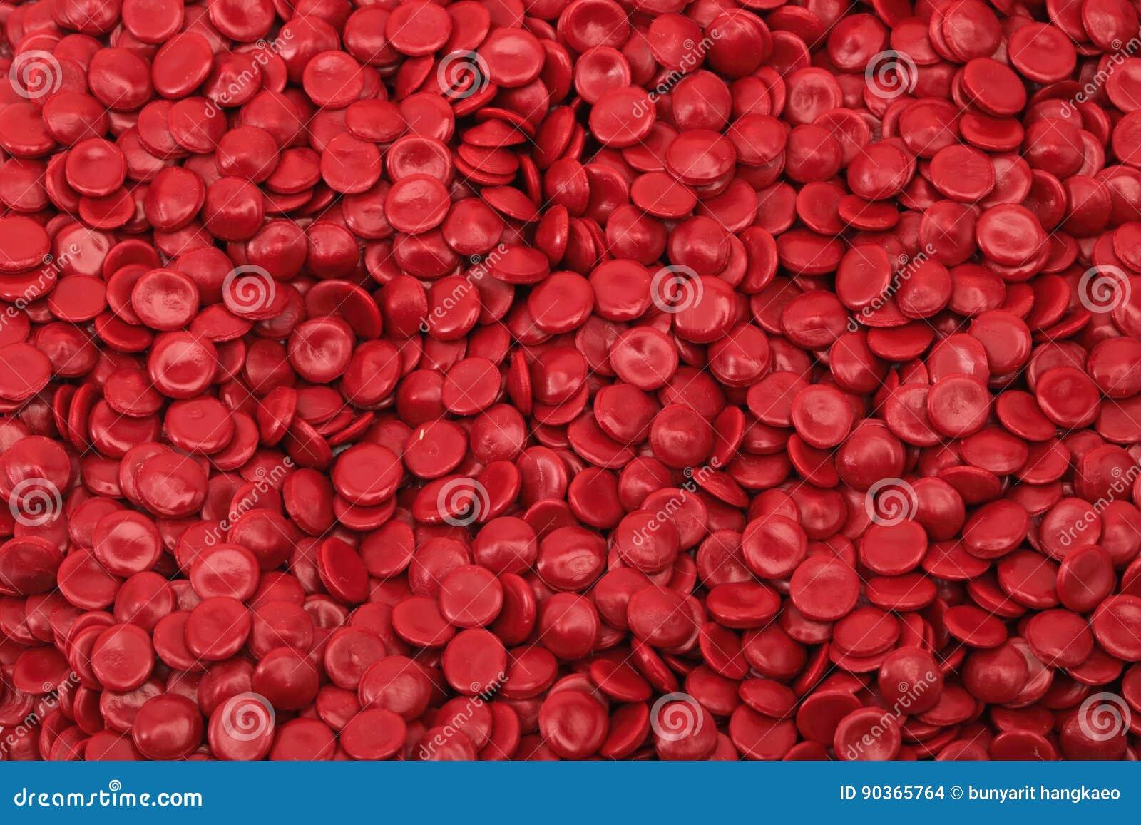 红色聚合物