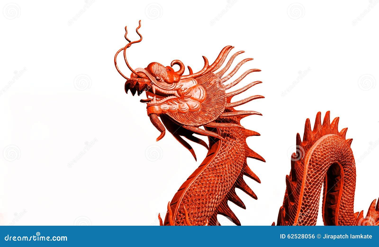 红色龙雕象