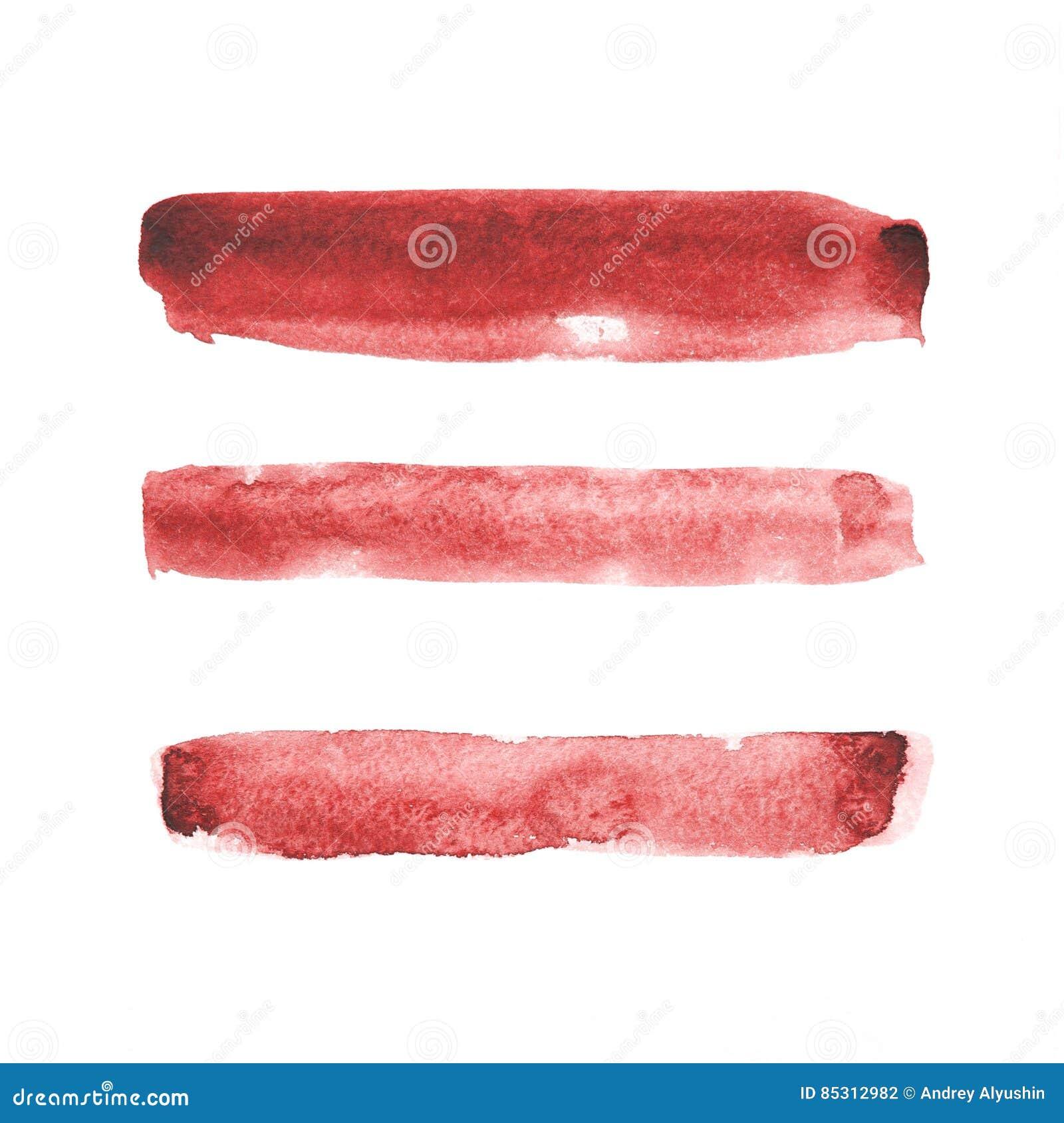 红色水彩绘画的技巧