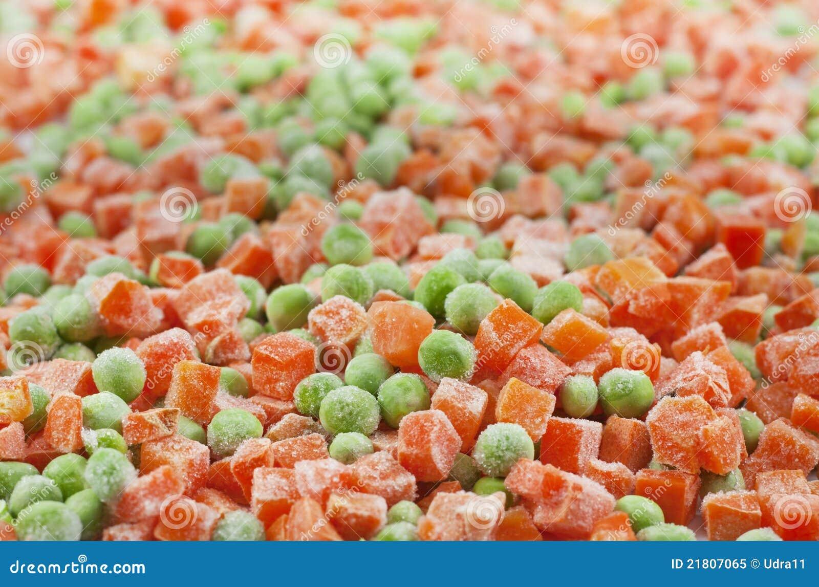 红萝卜食物冻结的豌豆
