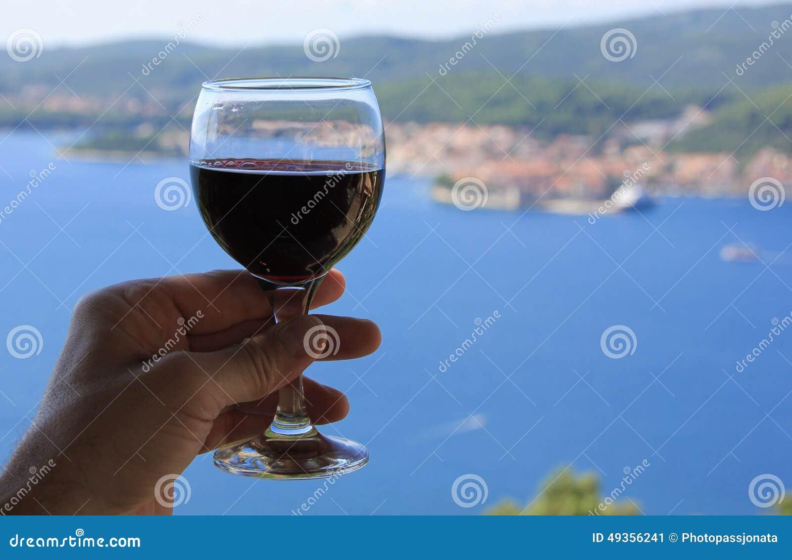 红葡萄酒海视图