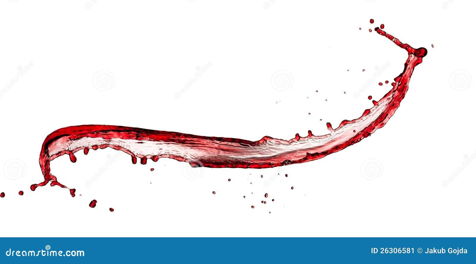 红葡萄酒飞溅