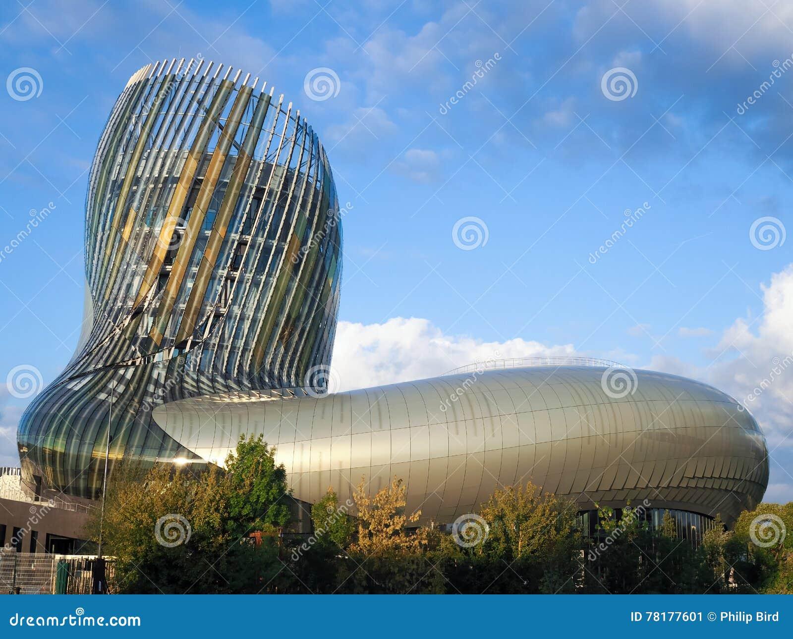 红葡萄酒, GIRONDE/FRANCE - 9月18日:观点的La Cite du Vin