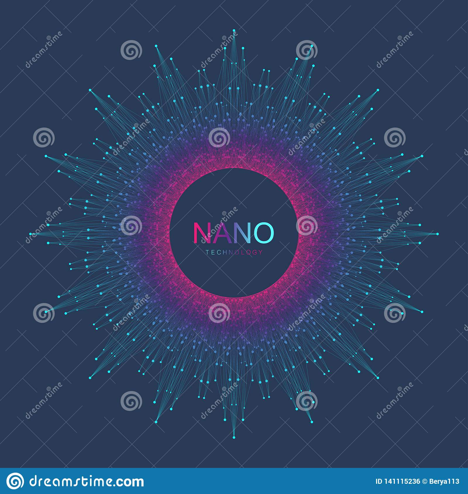 纳诺技术抽象背景 网络技术概念 人工智能,虚拟现实,仿生学