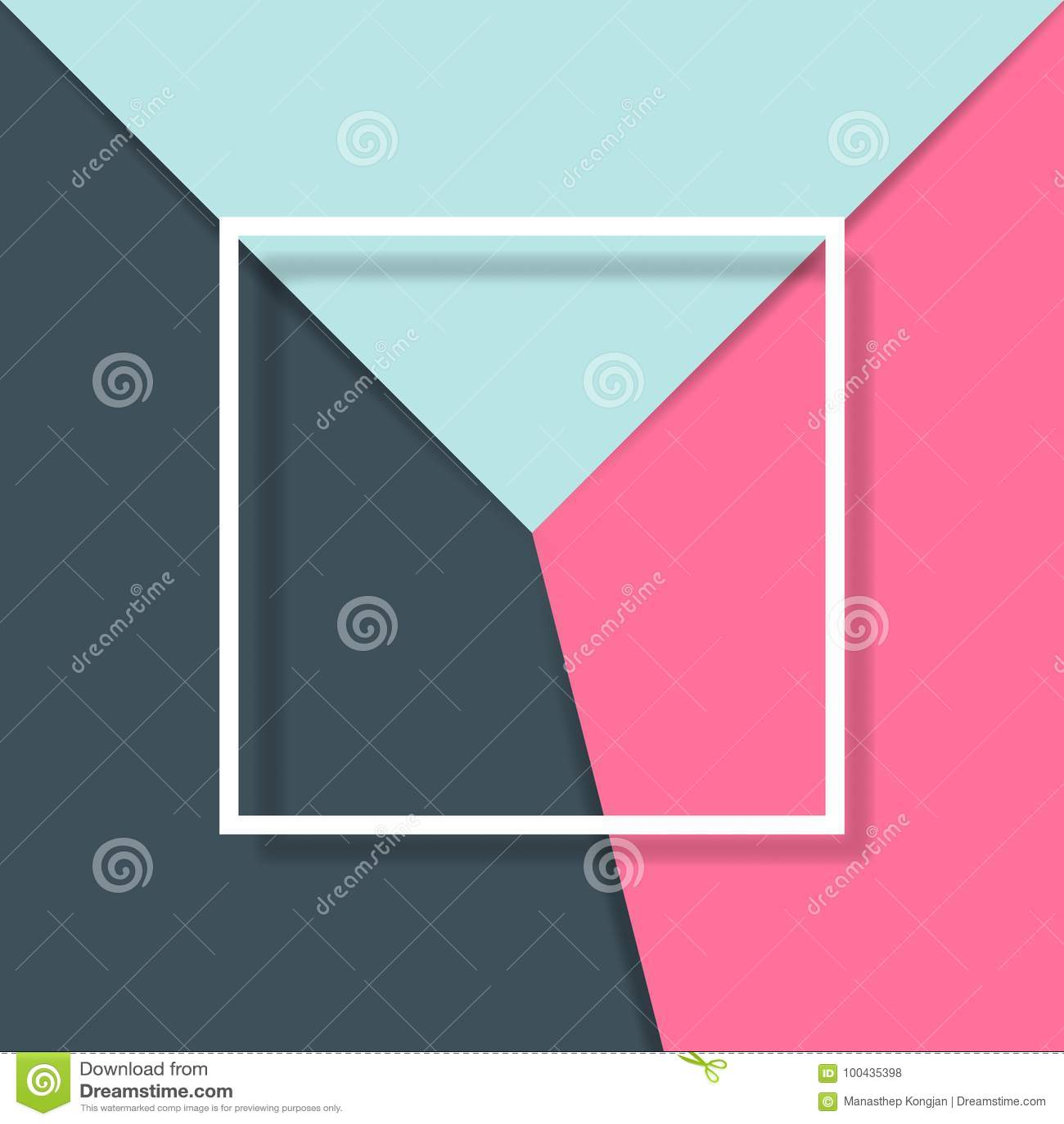 纸与白方块框架的裁减背景