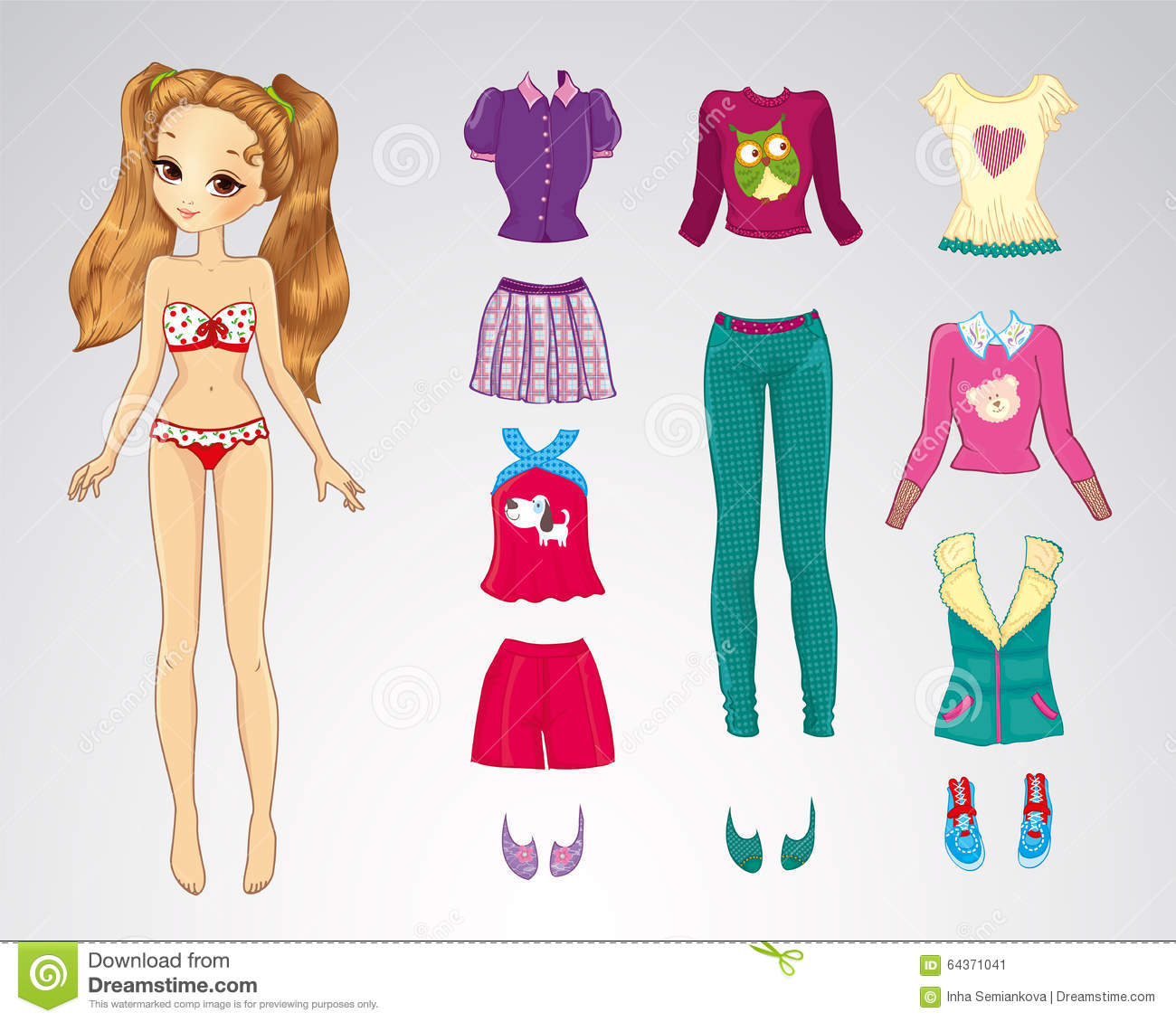 Writing a page 98 paper dolls