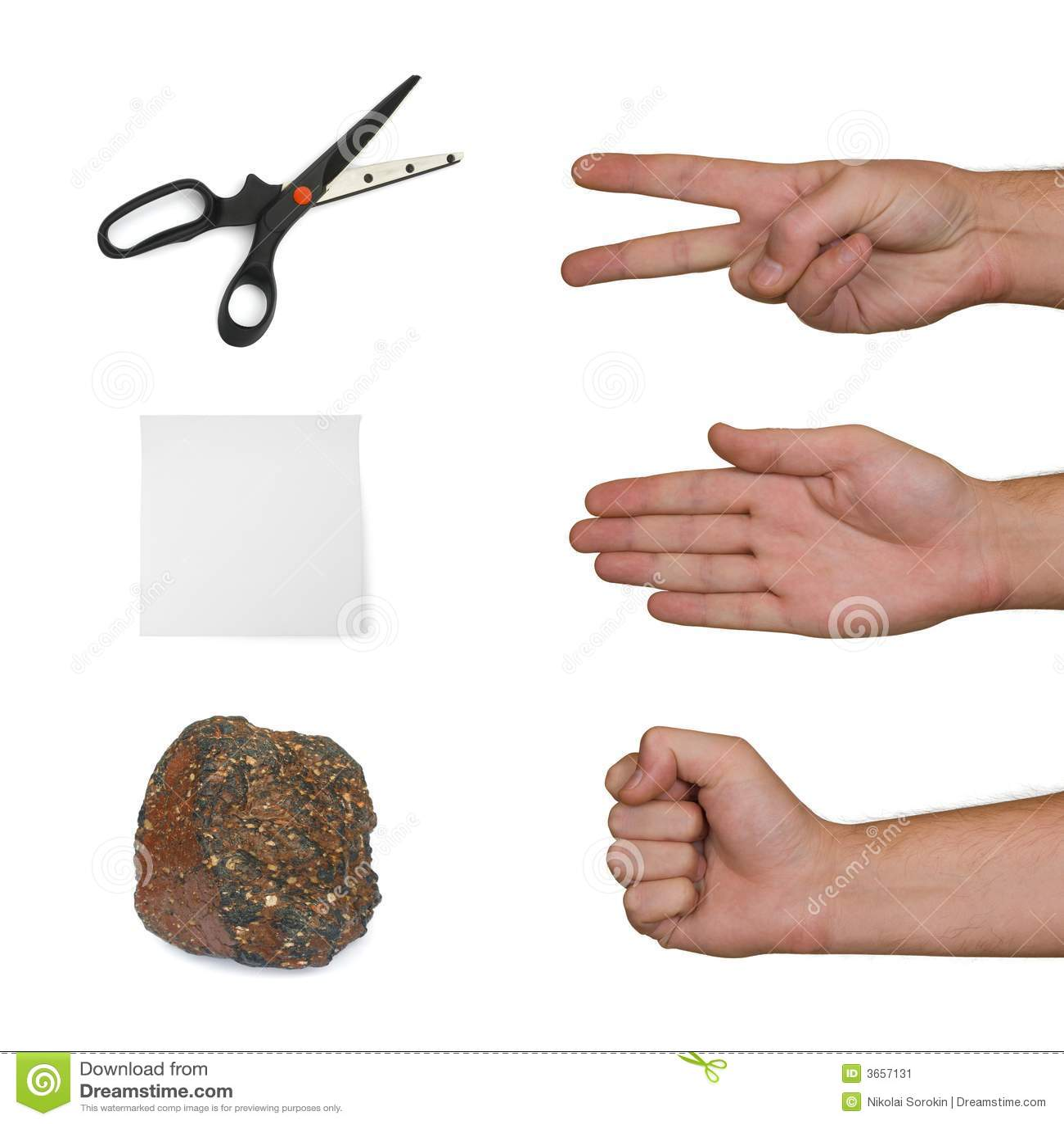纸张剪石头