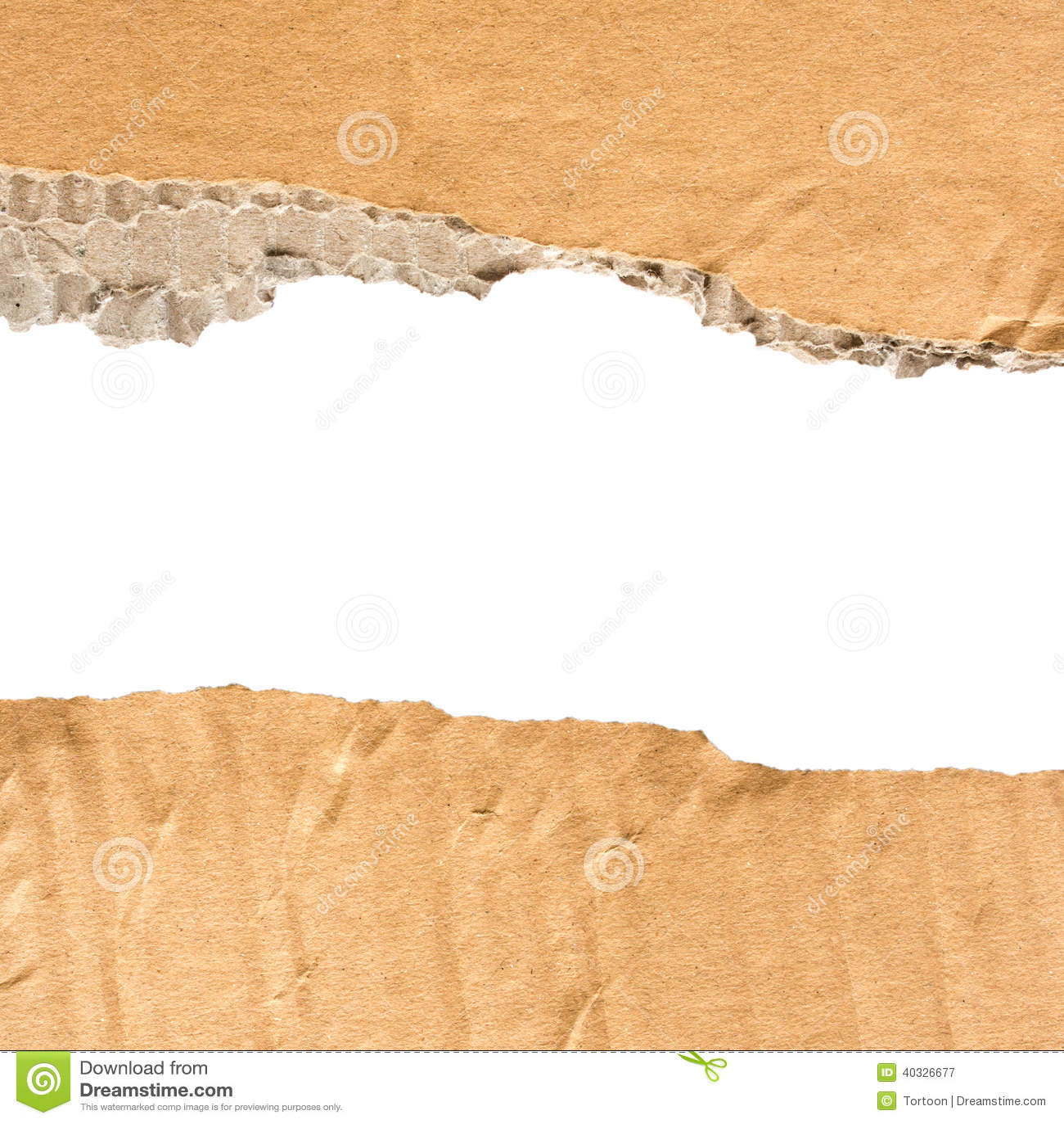 纸板被撕毁的纸