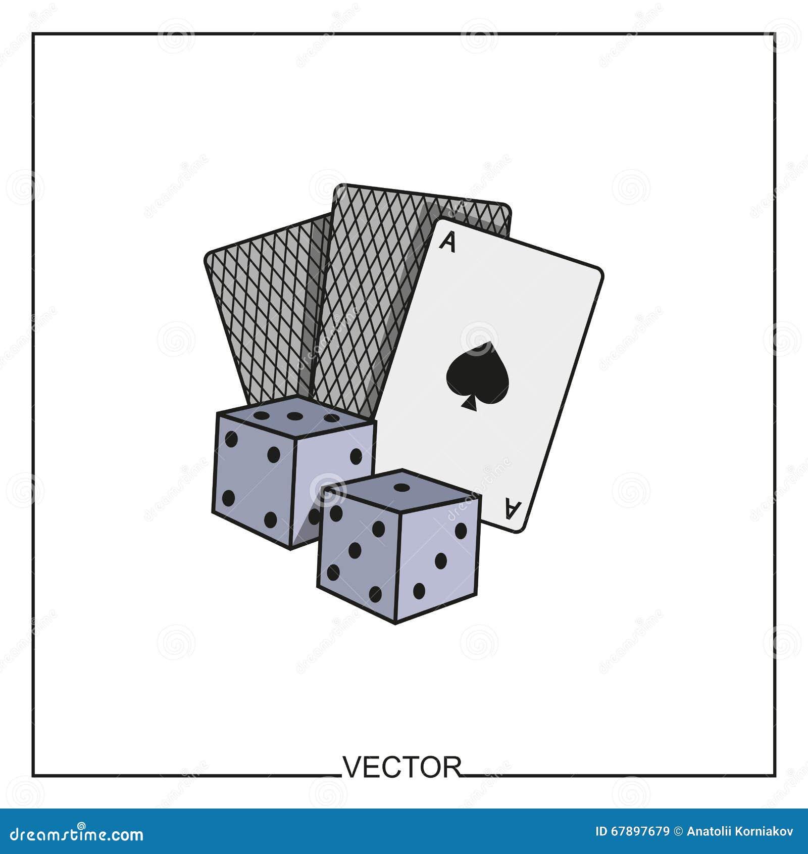 纸牌和模子的传染媒介例证