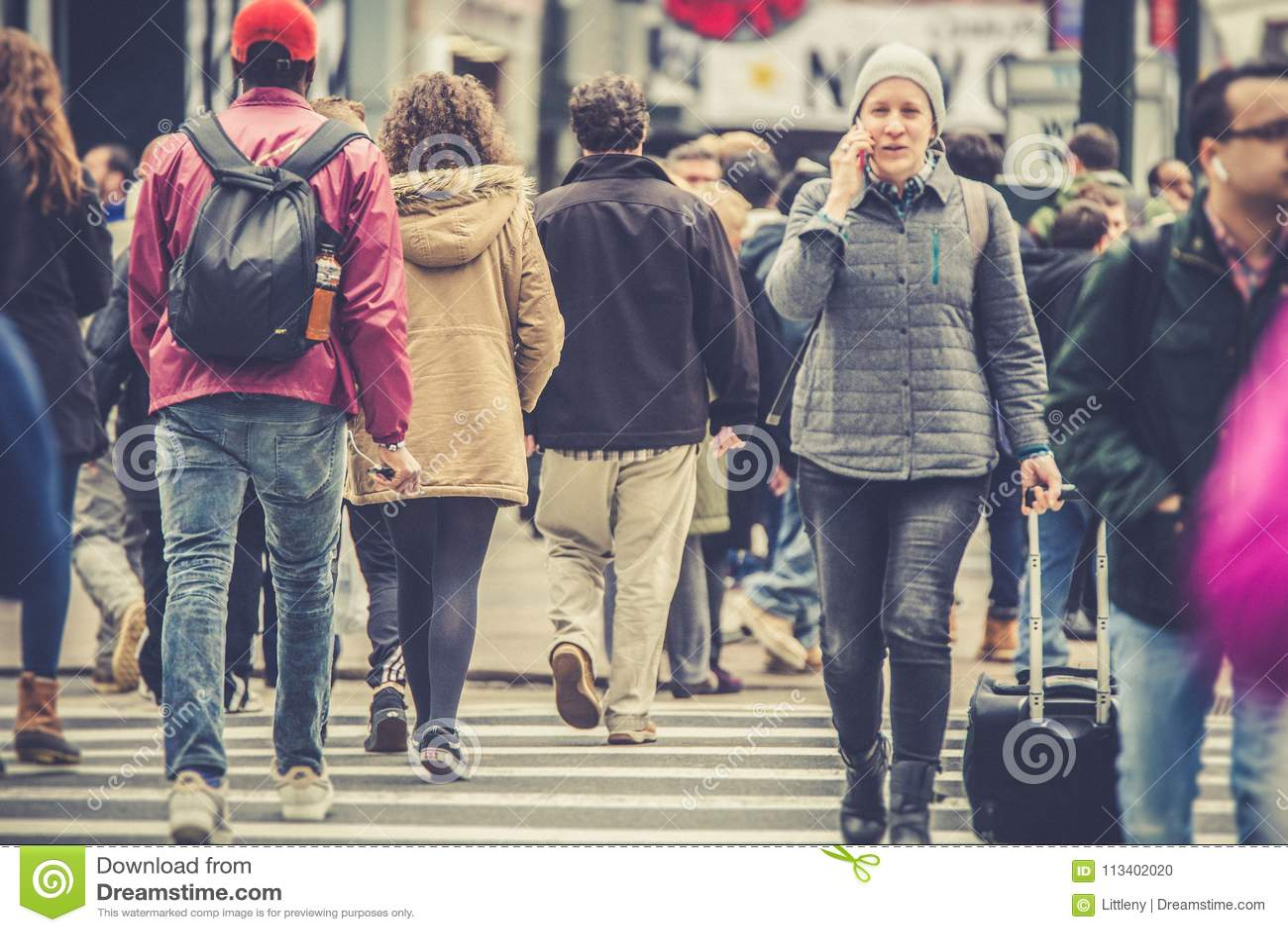 纽约与人的街场面