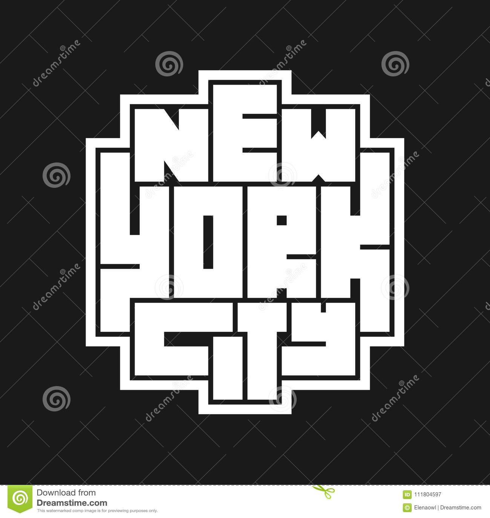 纽约印刷术海报 印刷品生产的概念