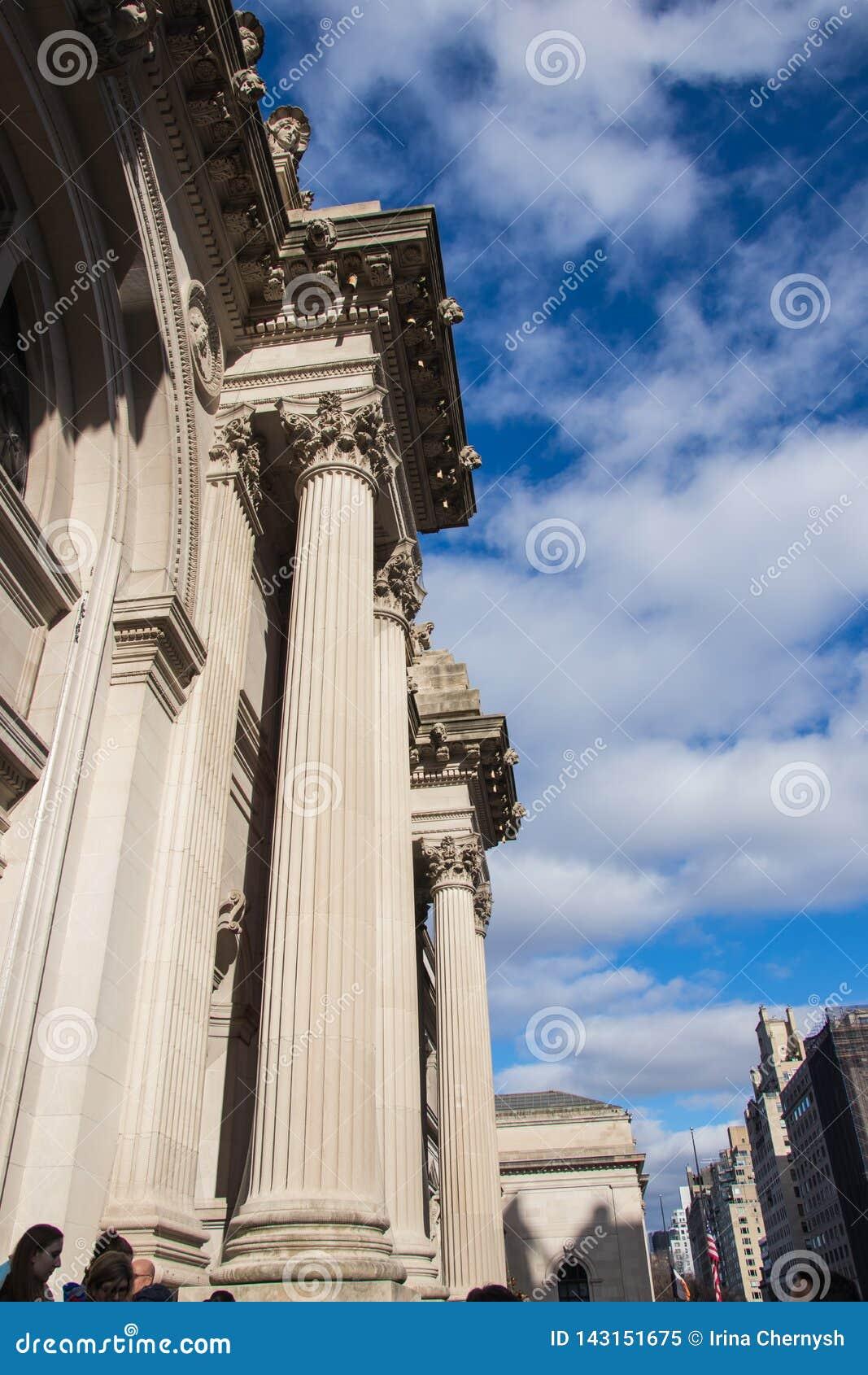 纽约,美国- 2019年1月3日:首都艺术博物馆在纽约,博物馆在美国 入口