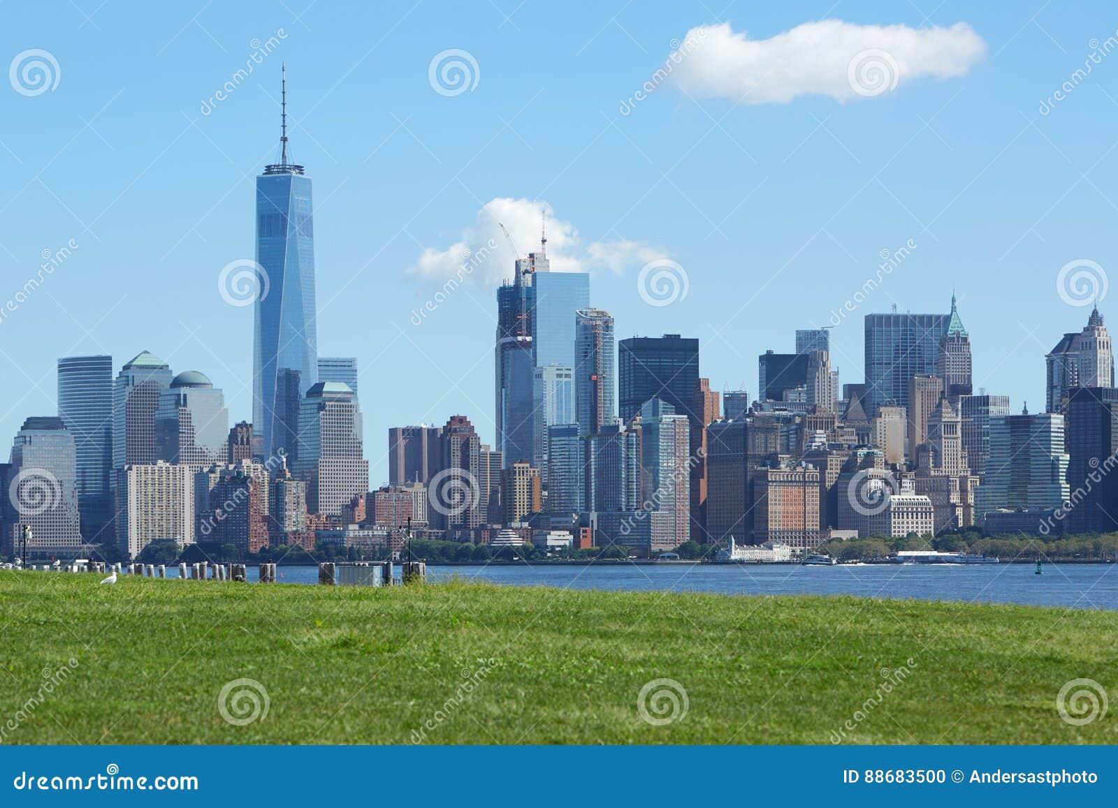 纽约- 9月12 :与自由towe的纽约地平线