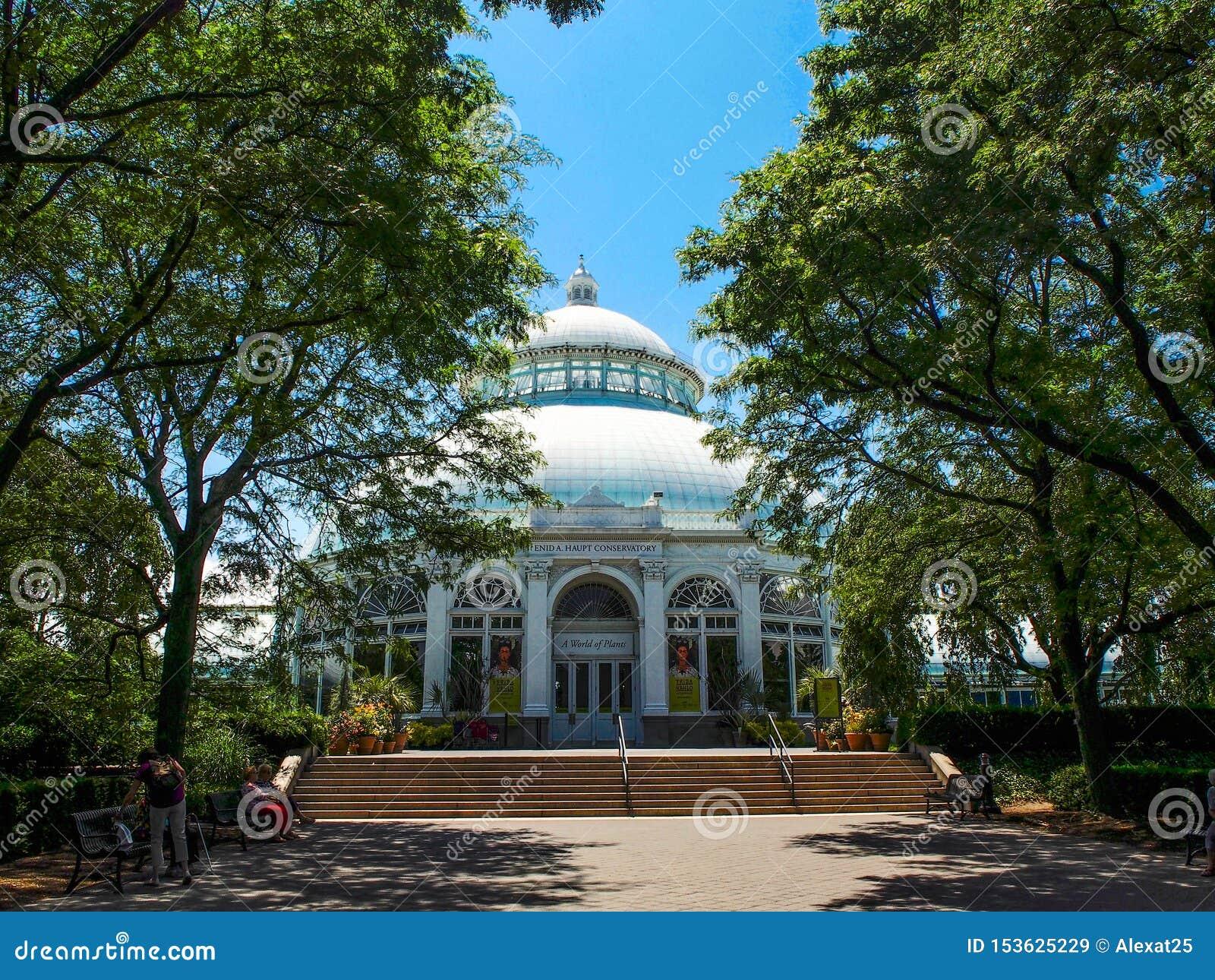 纽约-美国-伊尼德豪普特音乐学院在纽约植物的Gardenin纽约