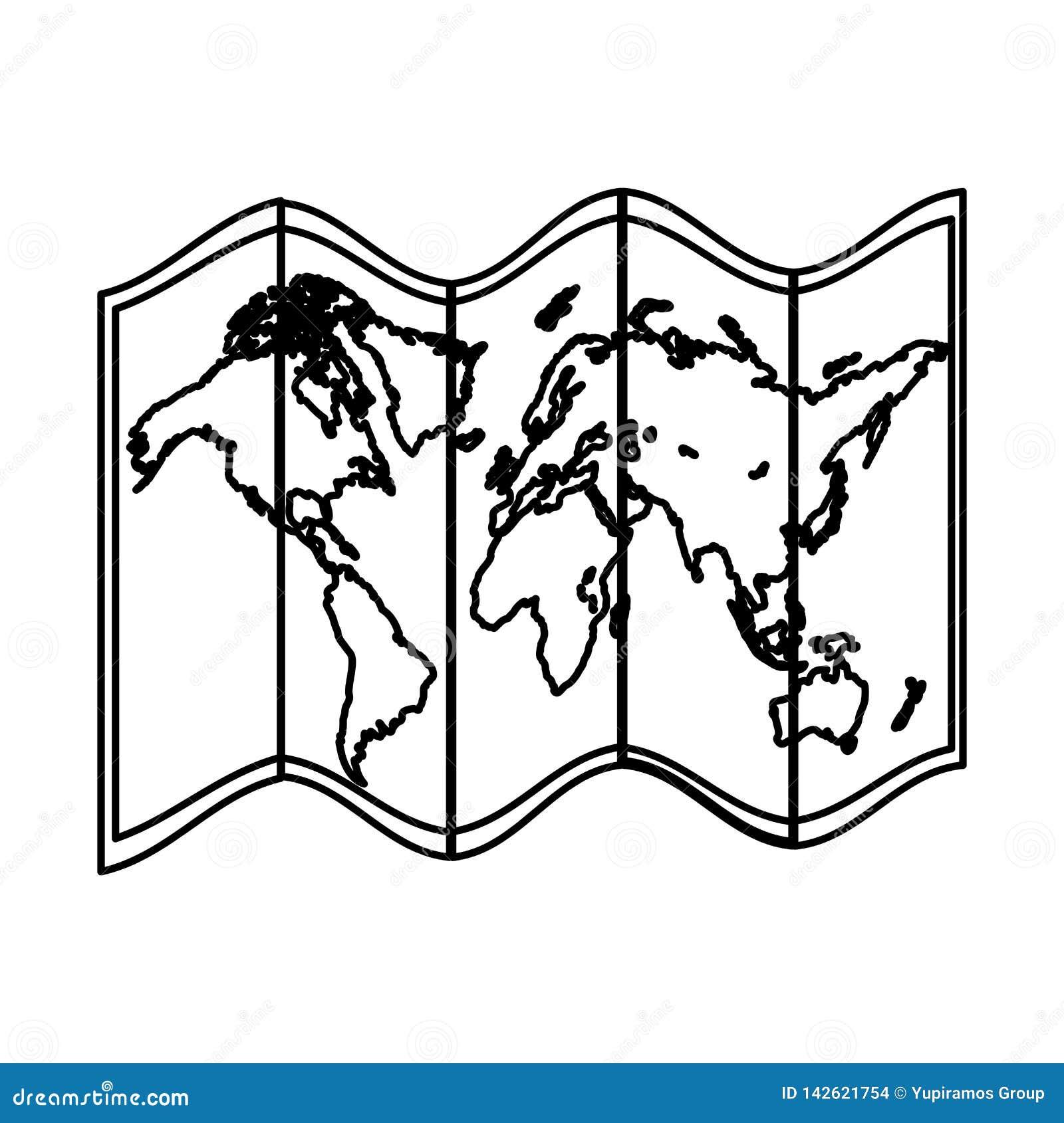 线全球性地理地图对象信息