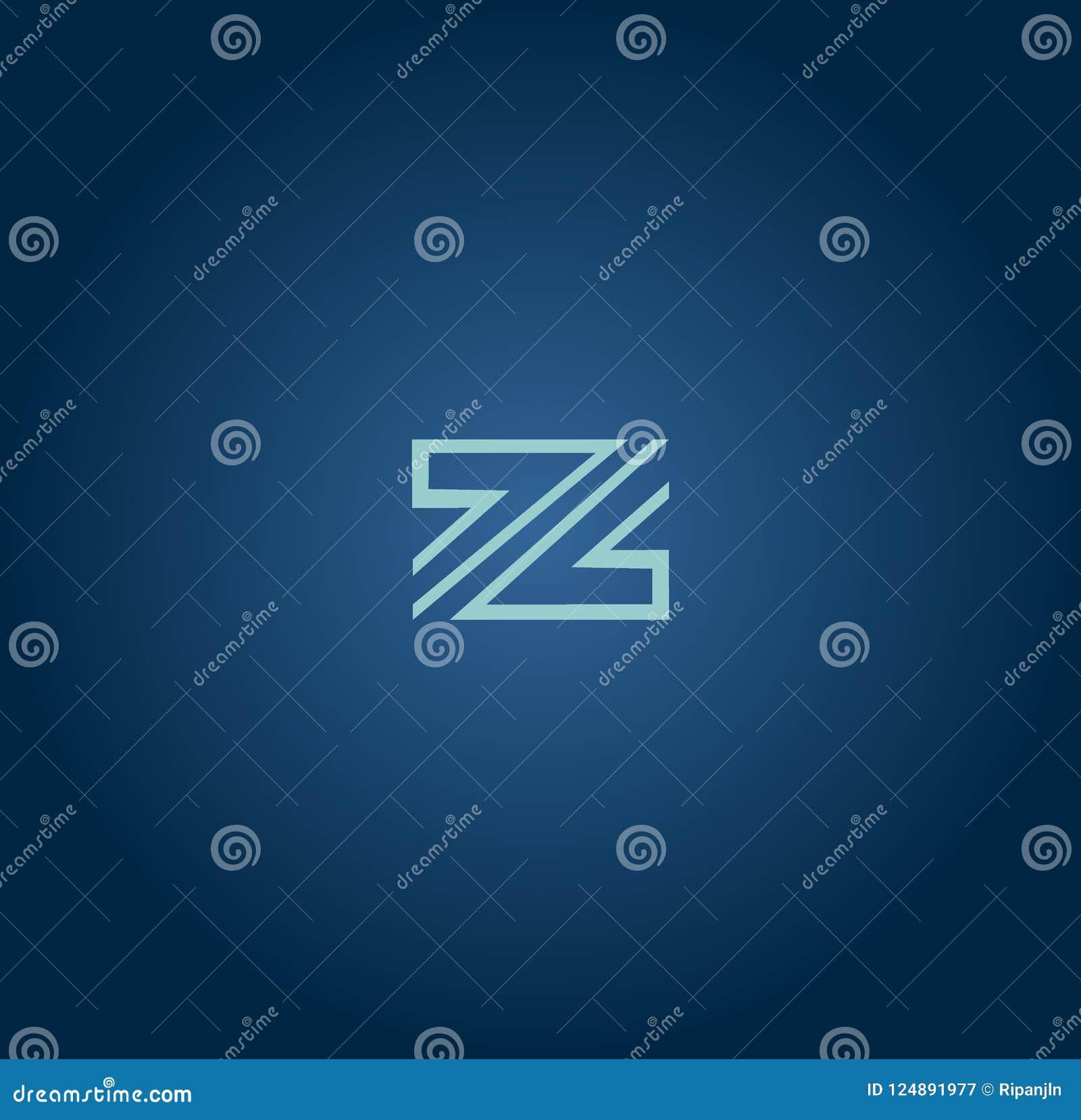 组合图案设计元素,优美的模板 书法典雅的线艺术商标设计 信件象征标志Z