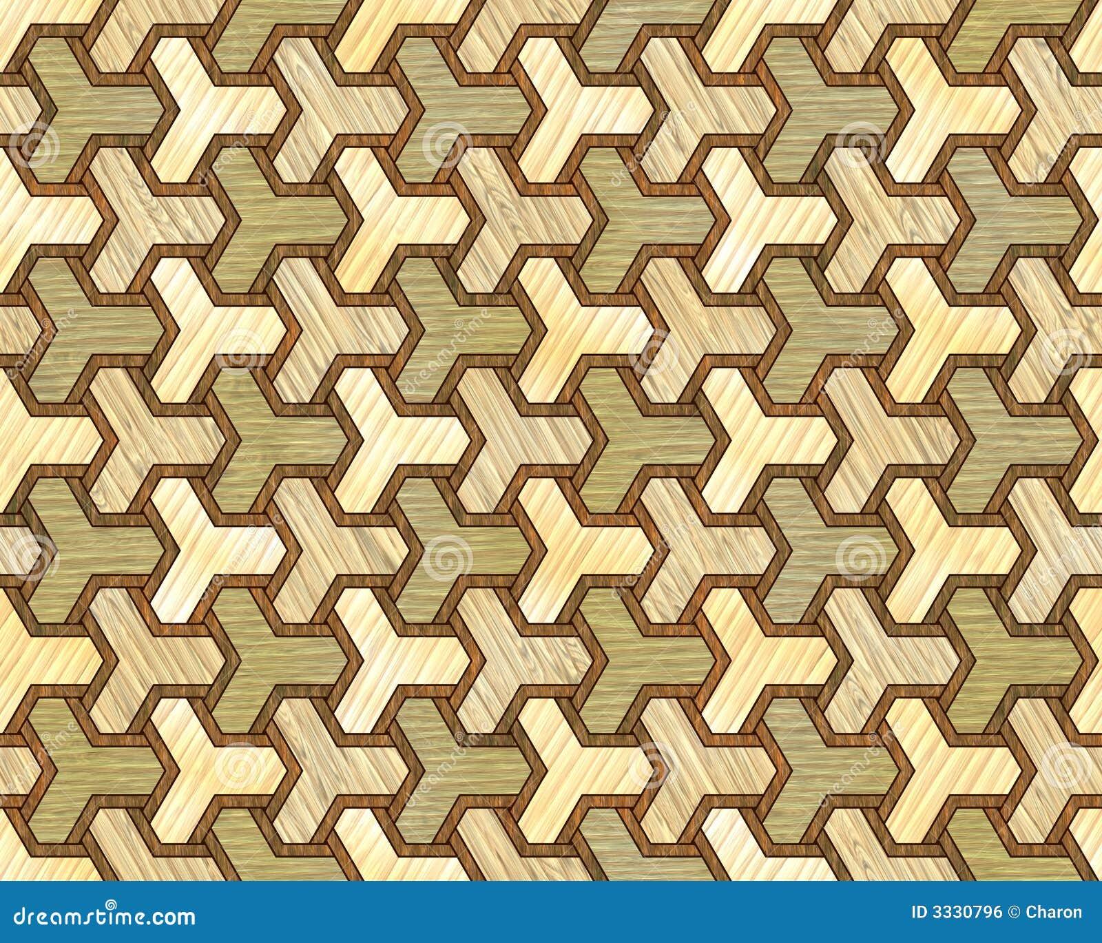 细致的镶嵌细工模式无缝的纹理木头