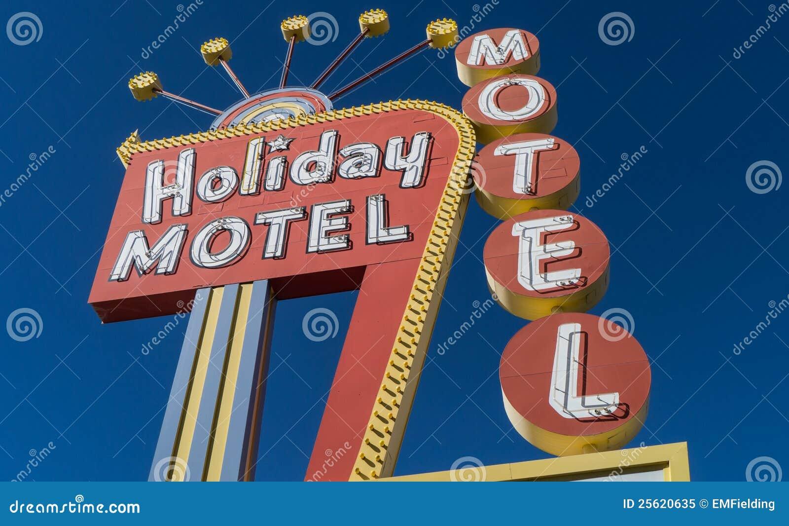 经典20世纪50年代霓虹汽车旅馆符号