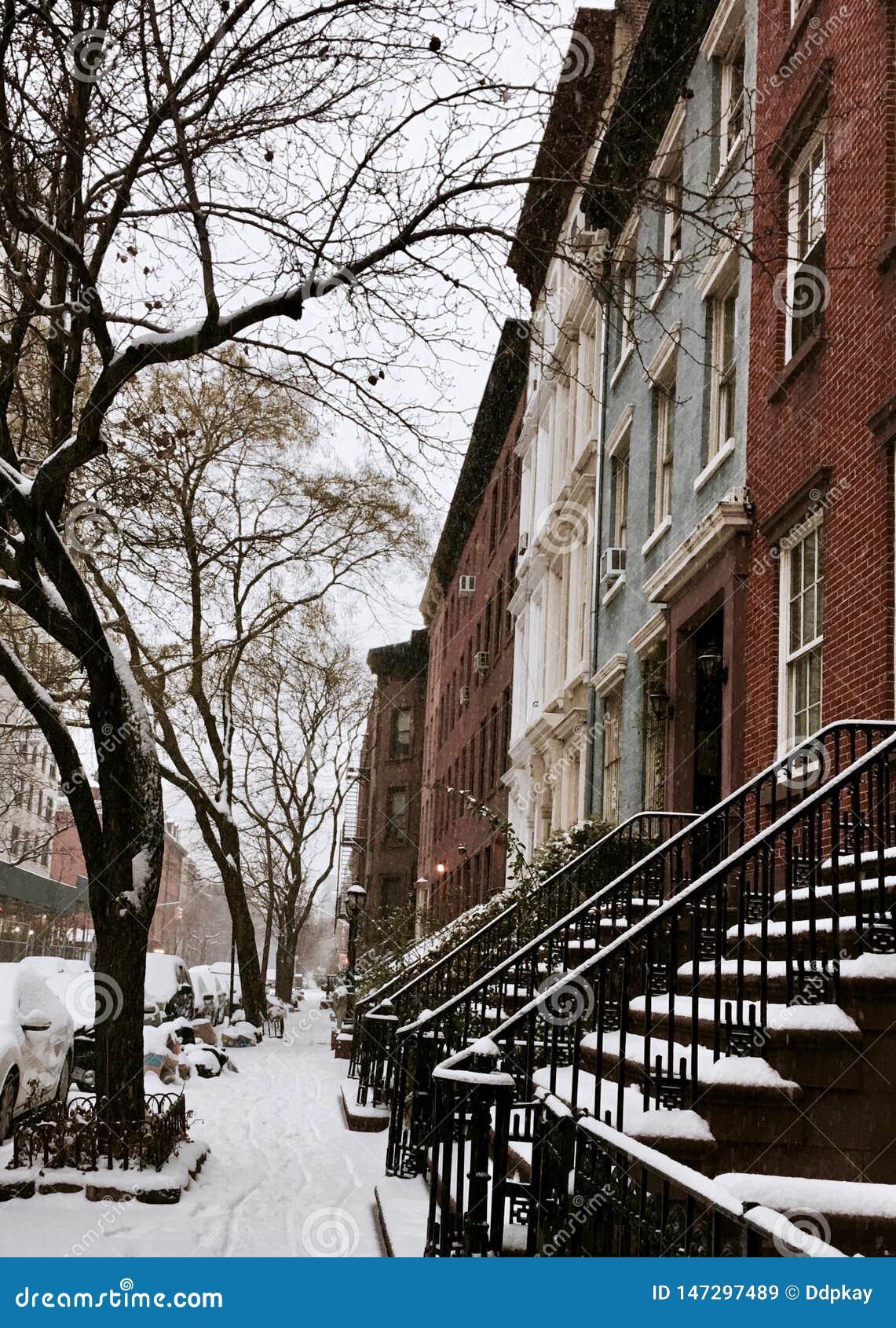 结冰的纽约