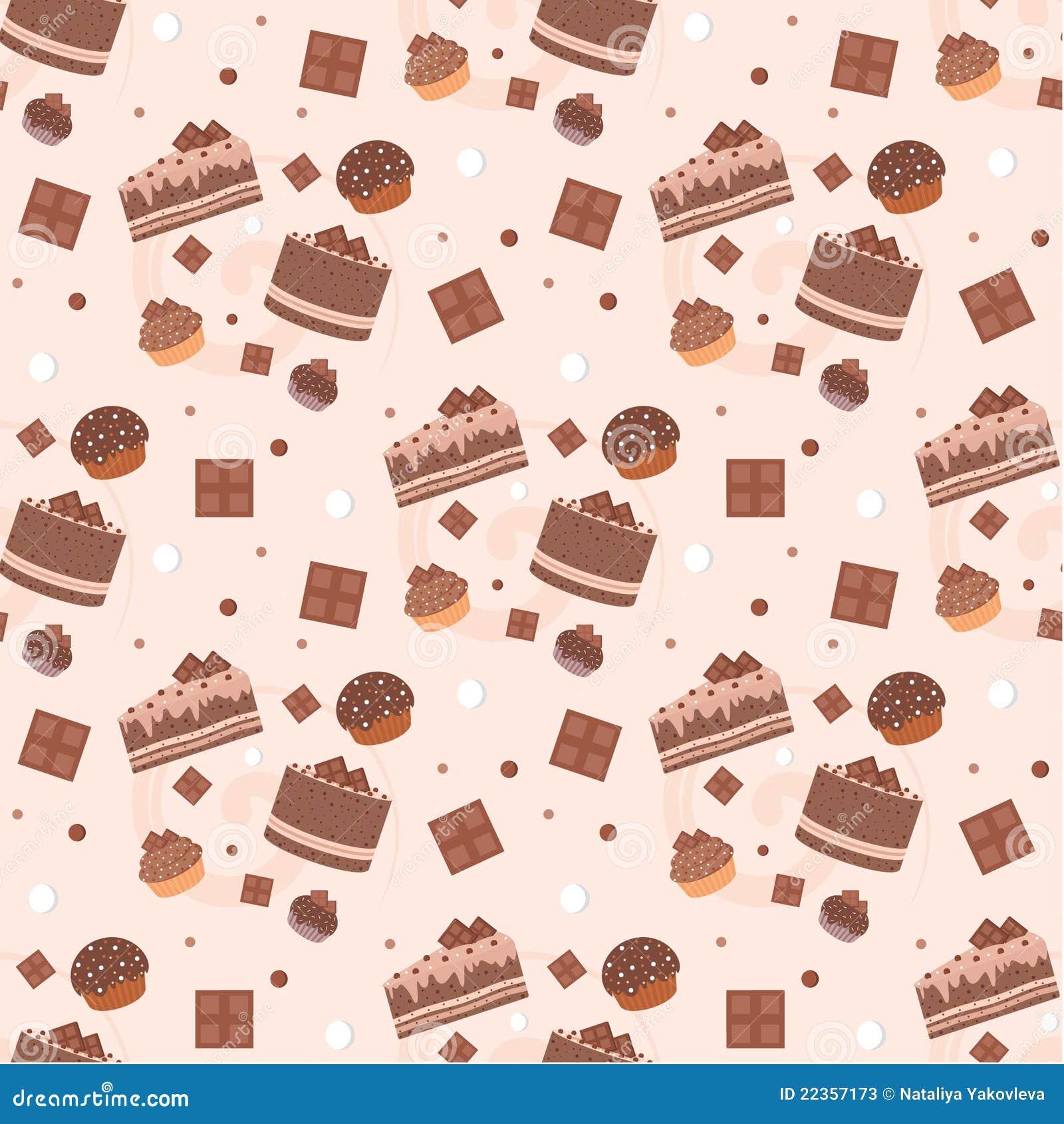 结块无缝巧克力的模式