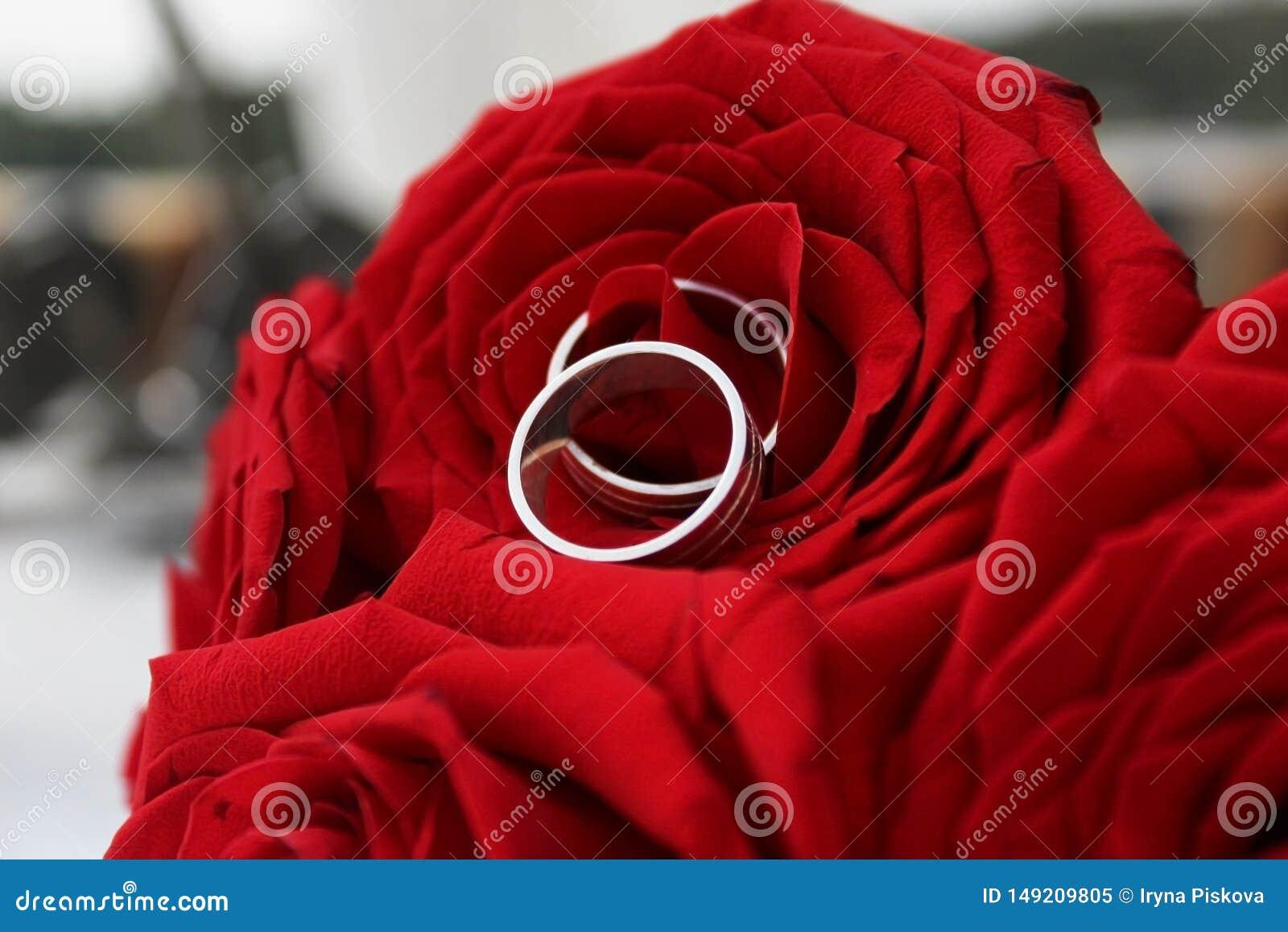 结婚戒指在Rad罗斯