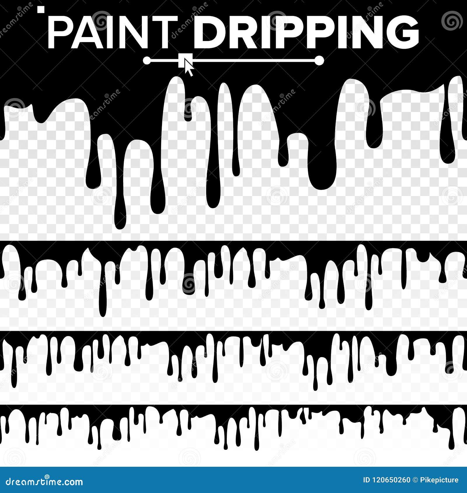 绘水滴液体传染媒介 抽象当前油漆,污点 巧克力,糖浆漏 按钮查出的现有量例证推进s启动妇女