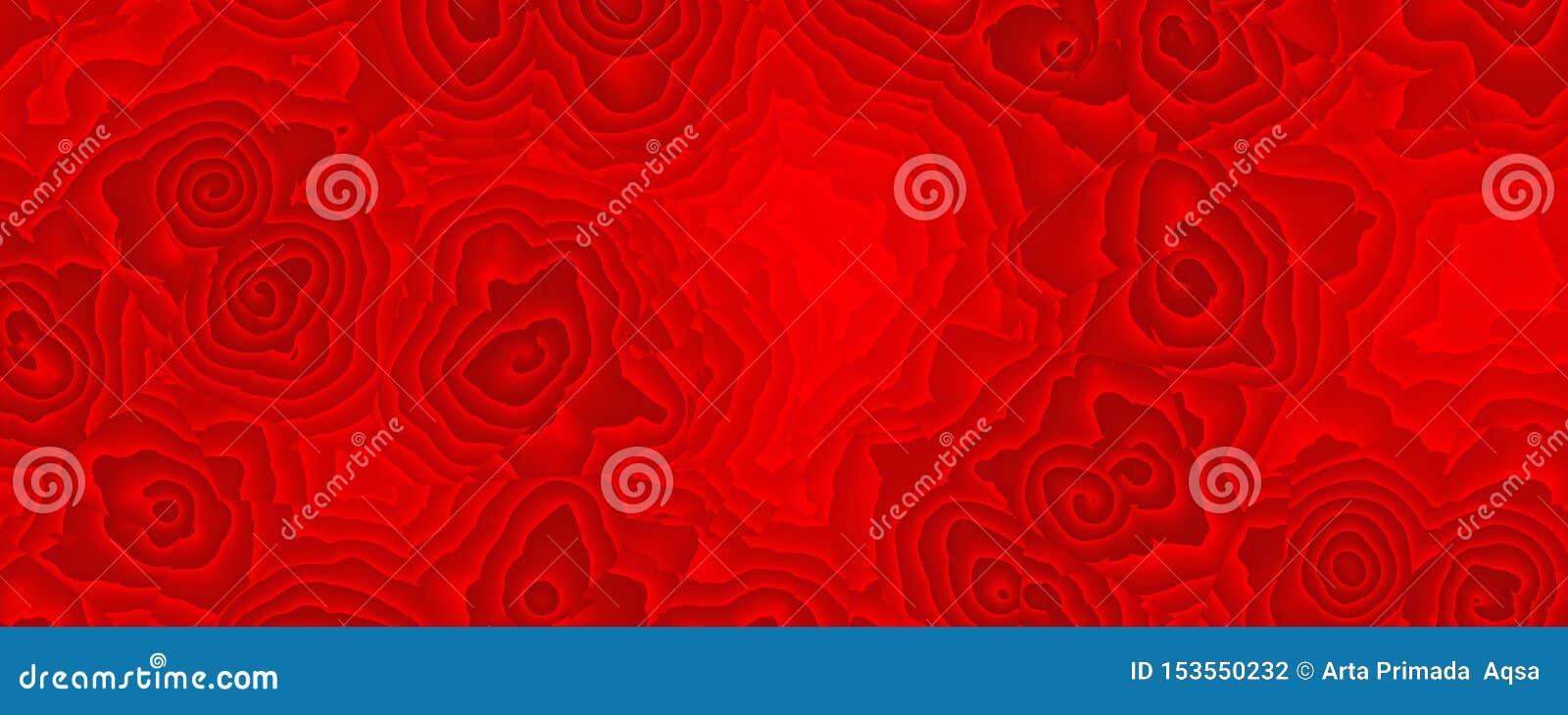 绘的抽象红色玫瑰色样式