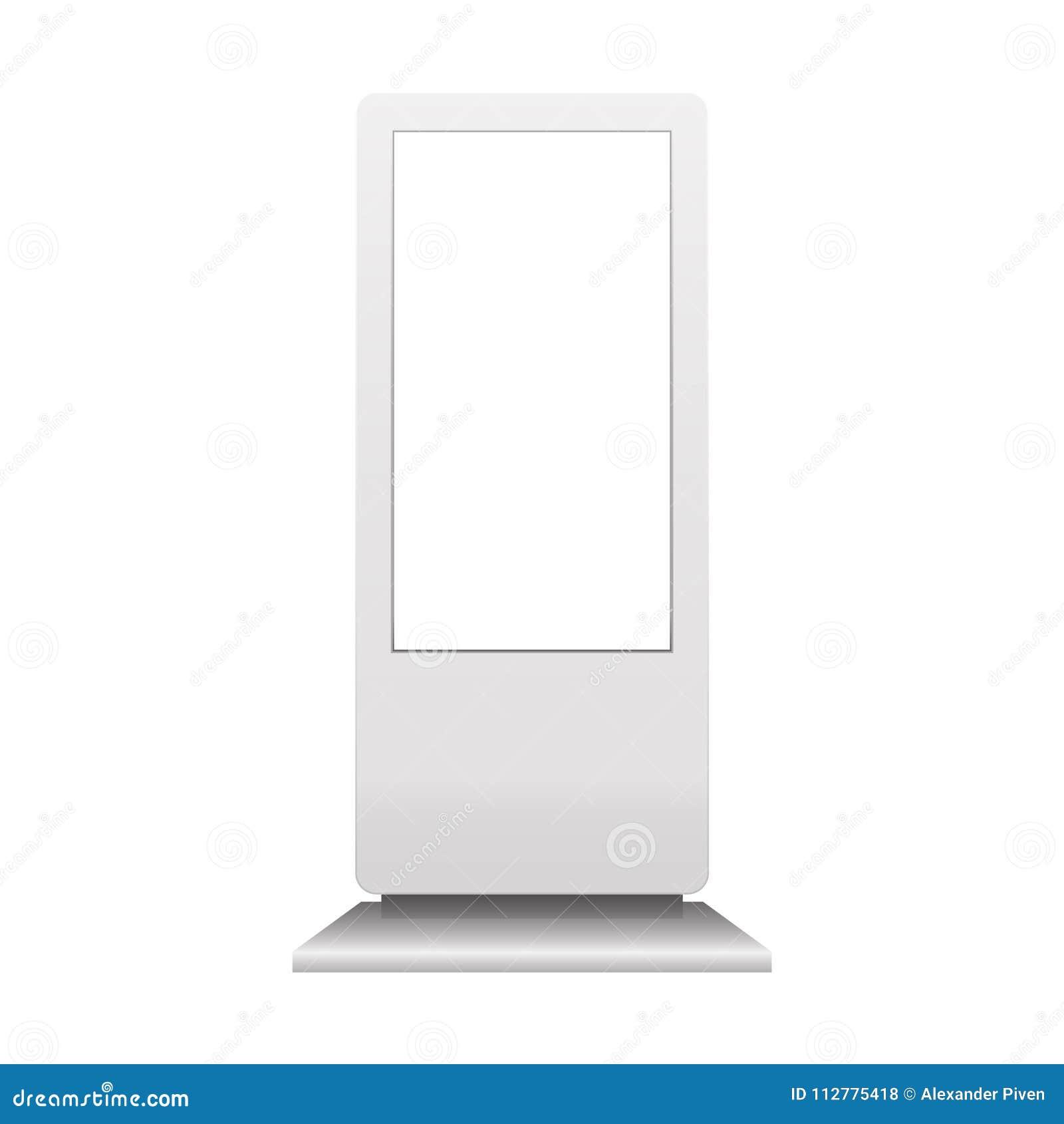 给在白色背景隔绝的数字式标志大模型做广告 多媒体立场模板 户外广告POS POI立场Bann