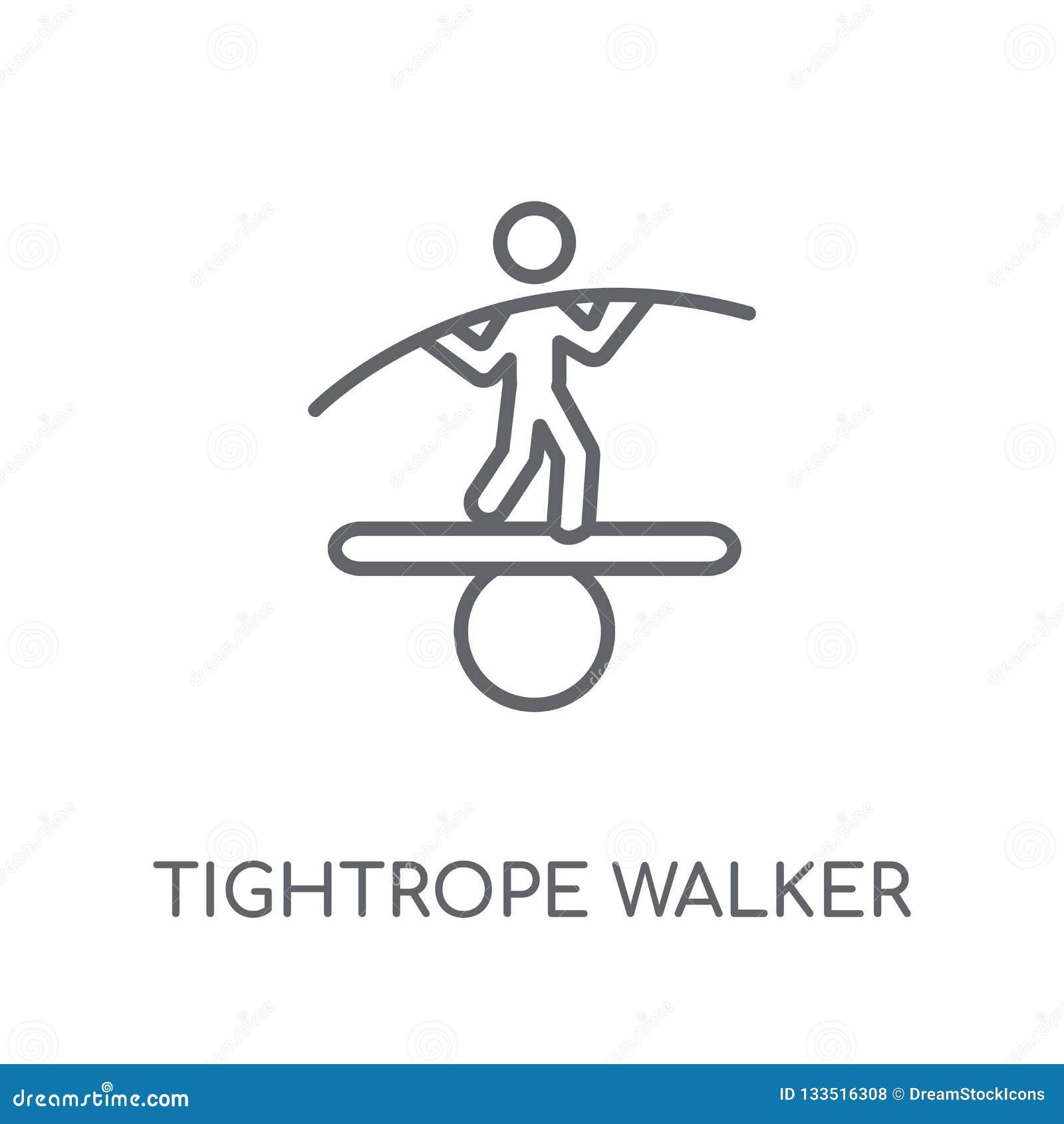 绳索步行者线性象 现代概述绳索步行者lo