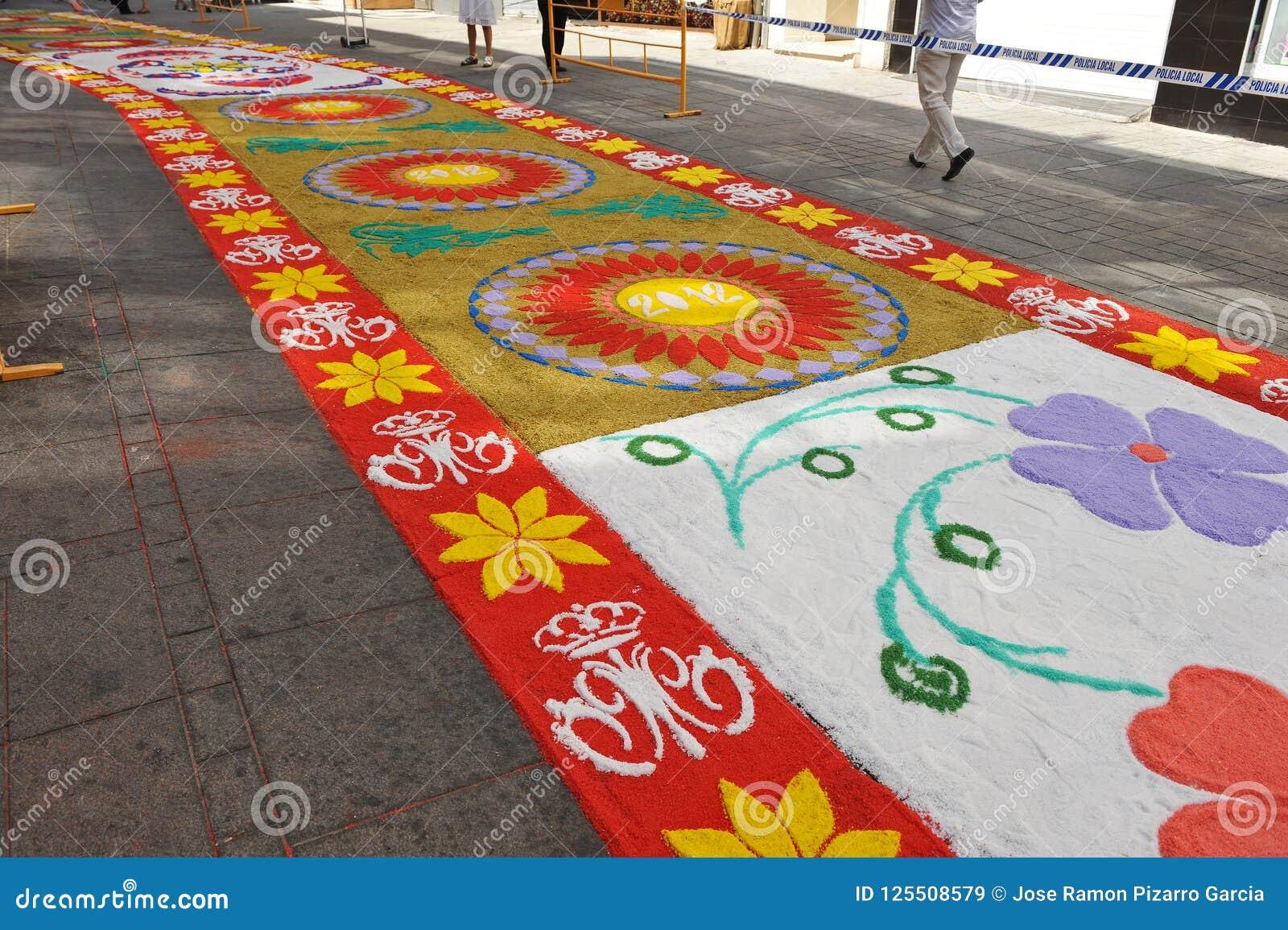 维尔京的队伍的五颜六色的地毯,安大路西亚,西班牙