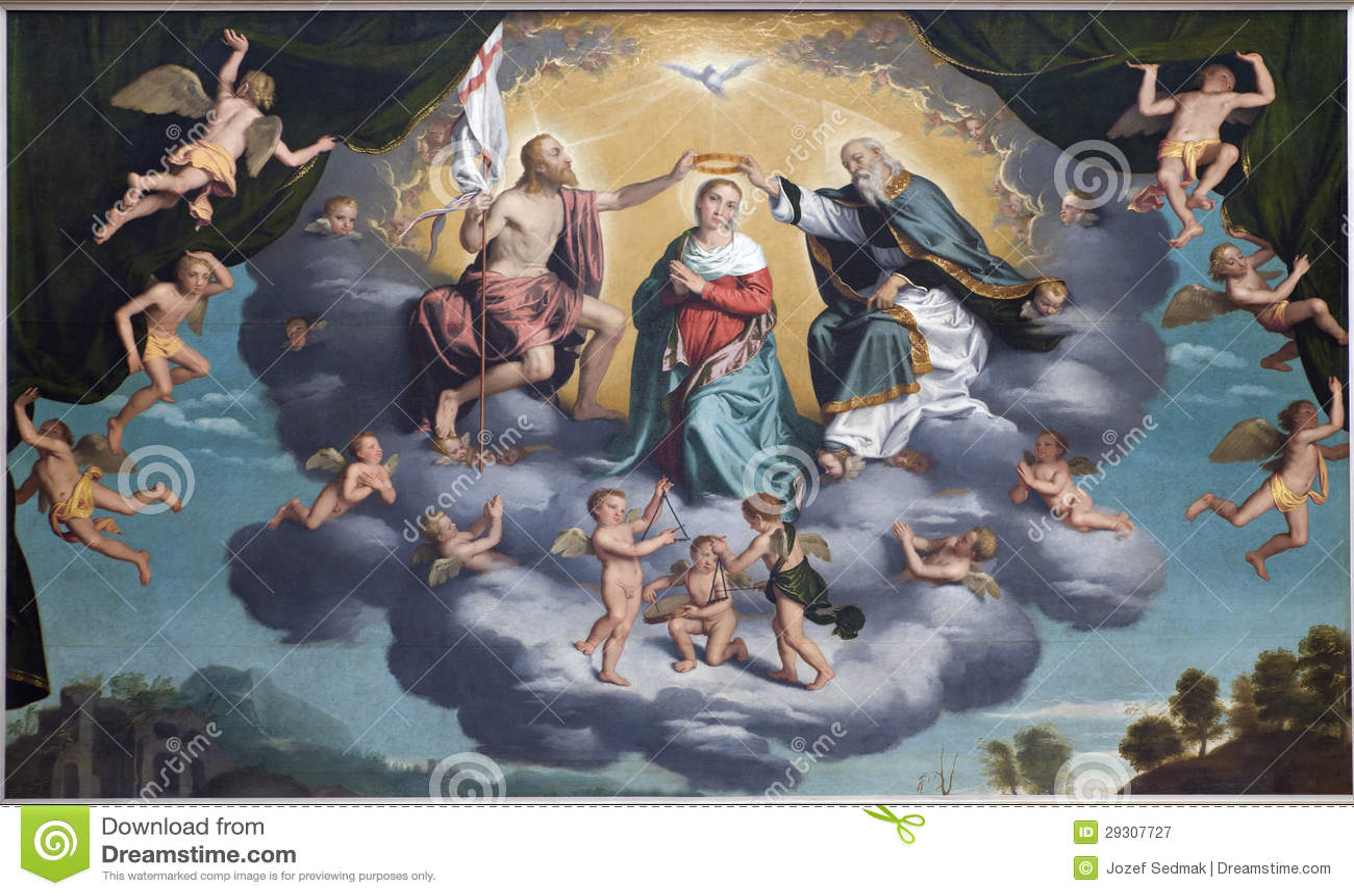 维罗纳- Incoronazione della Vergine -百升的加冕。 玛丽