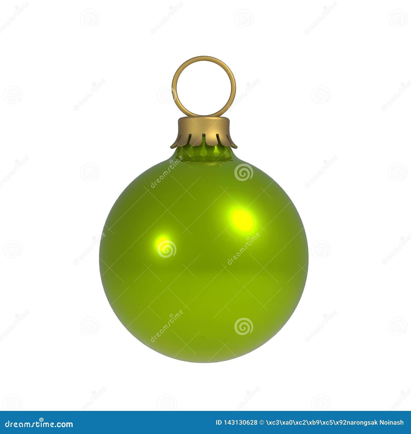 绿化在空白背景查出的圣诞节球