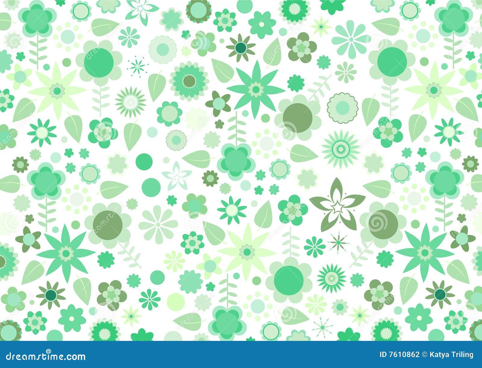 绿化质朴的花和叶子减速火箭的模式