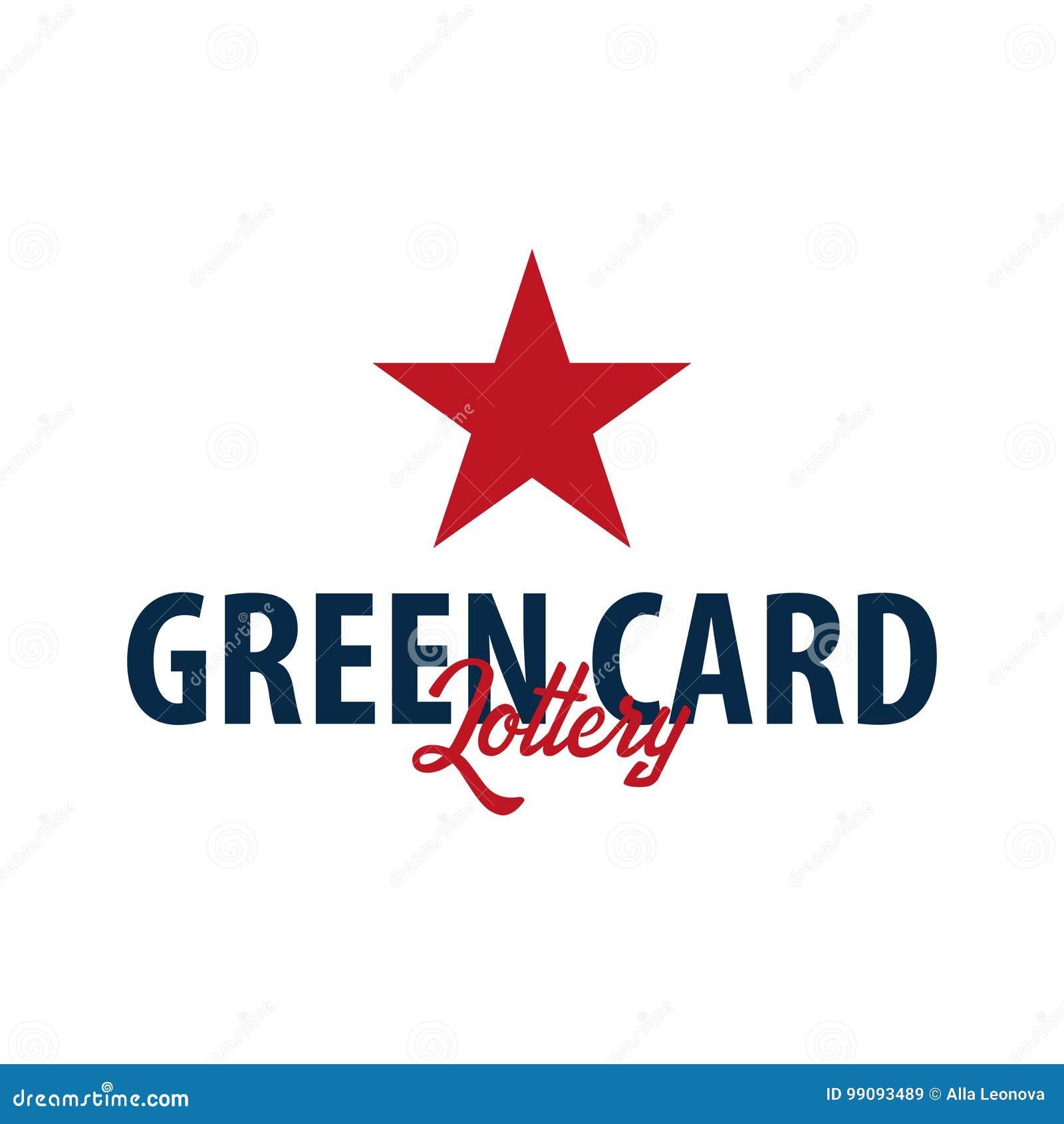 绿卡抽奖商标或象征 移民和签证向美国