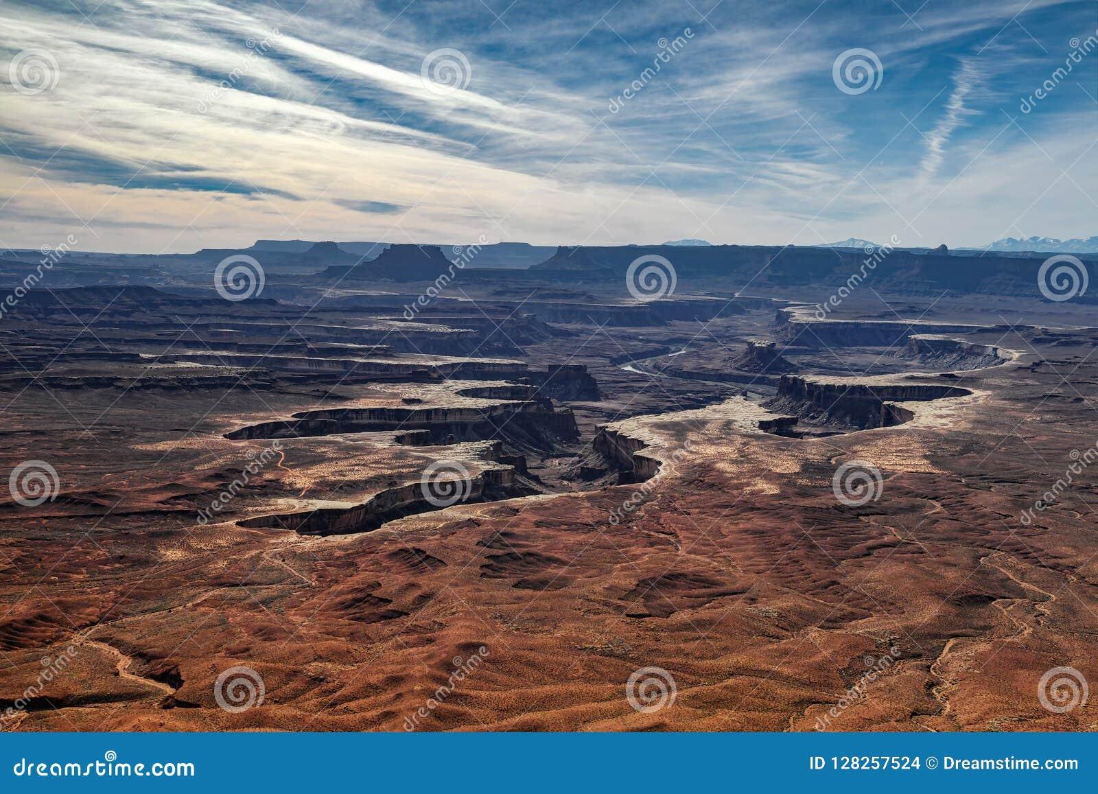 绿河乐队俯视- Canyonlands